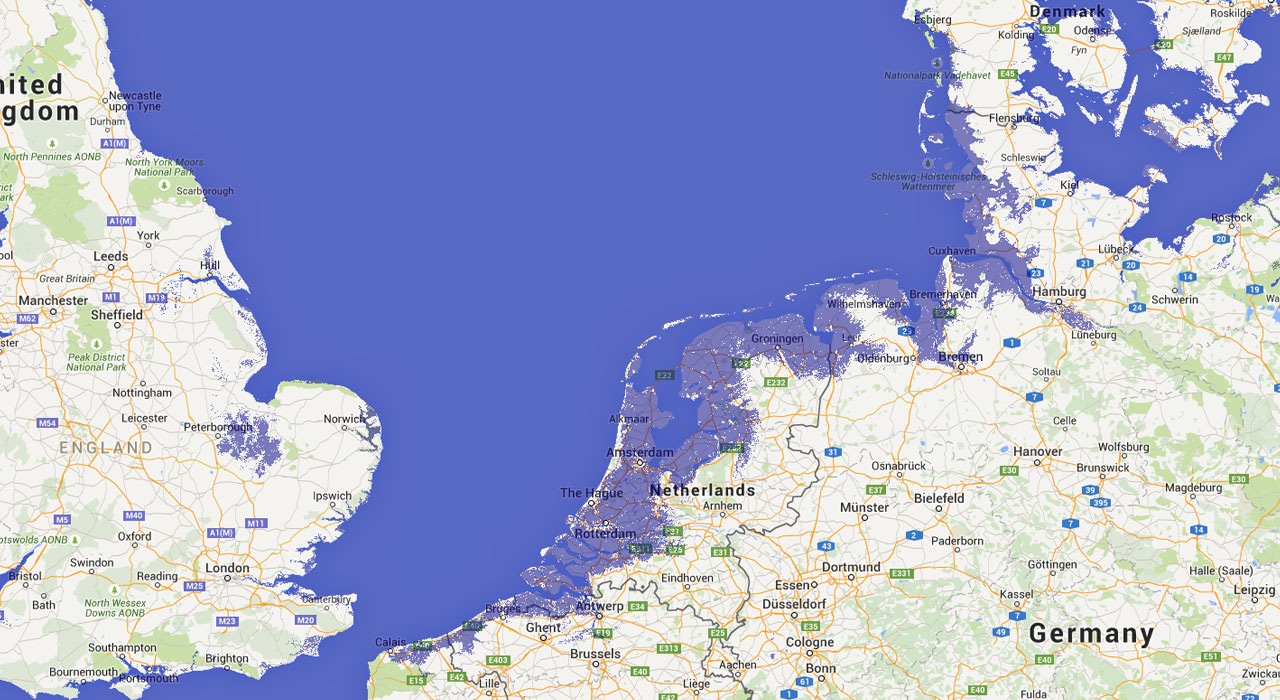 How Northern Europe could look after a metre of sea level rise