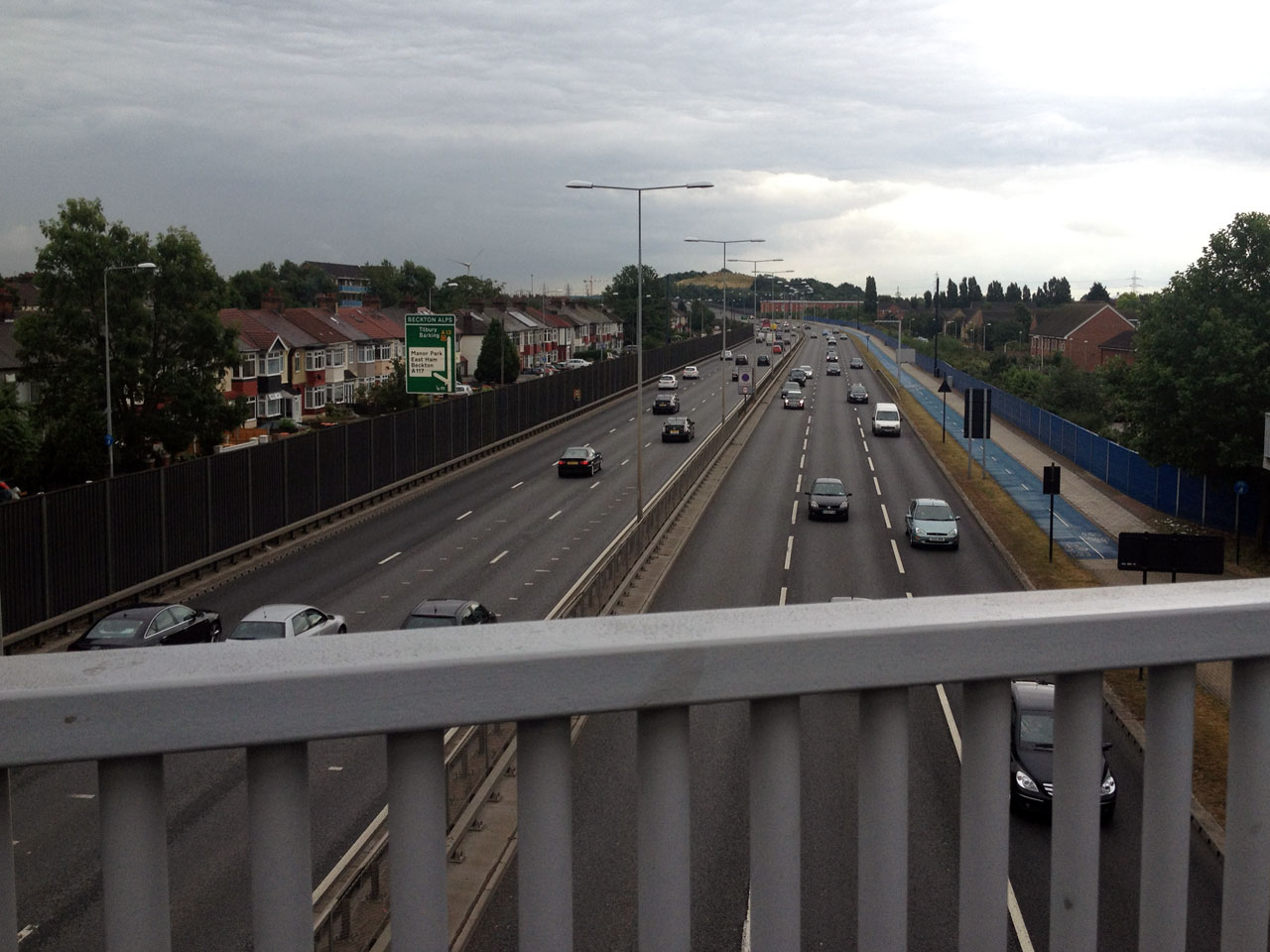 The A13 at Beckton, London