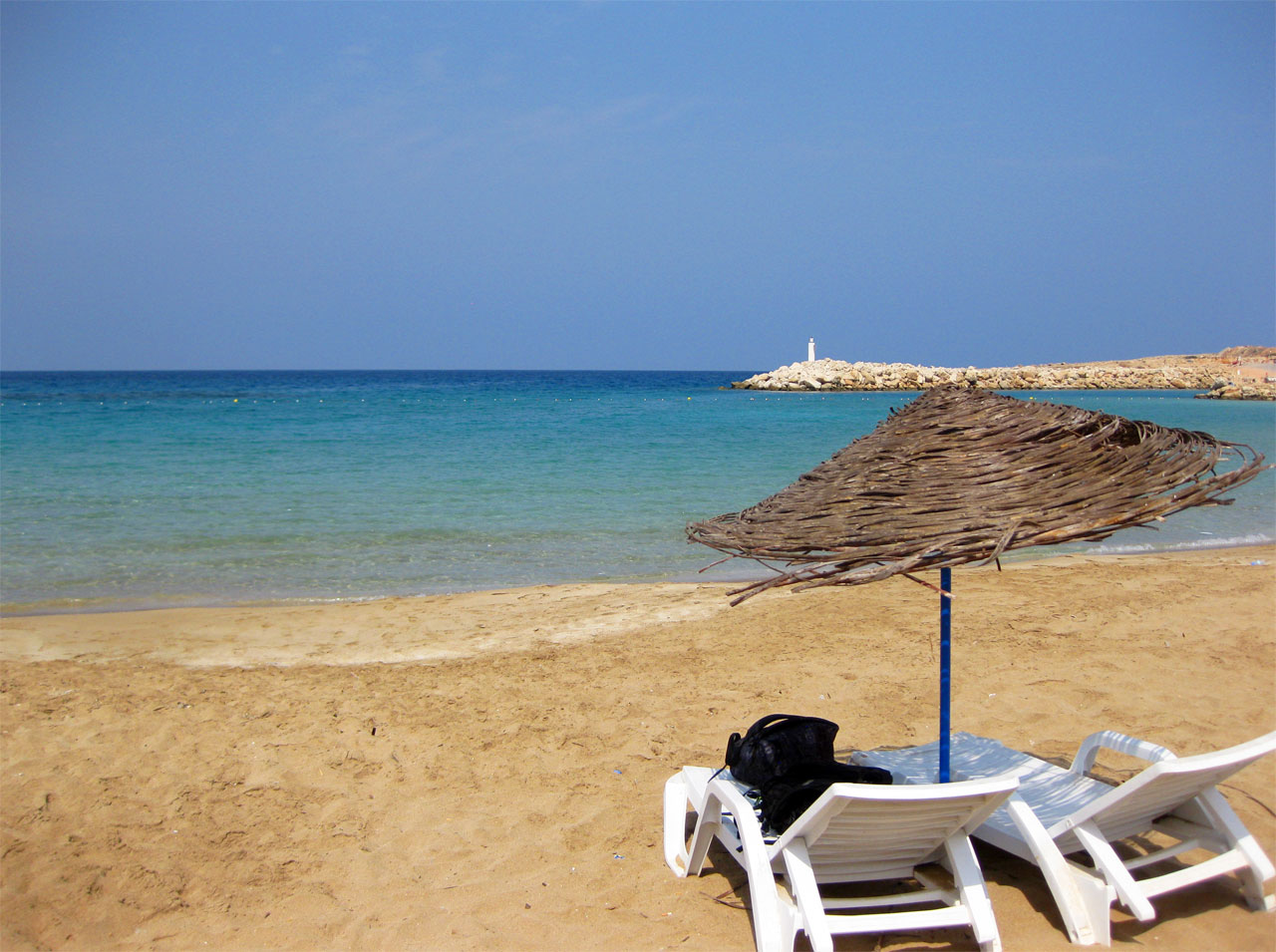 An empty beach in Northern Cyprus