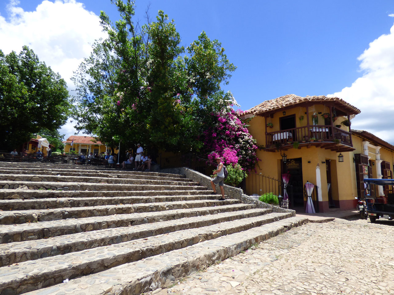 Steps outside the Casa de la Música in Trinidad, Cuba