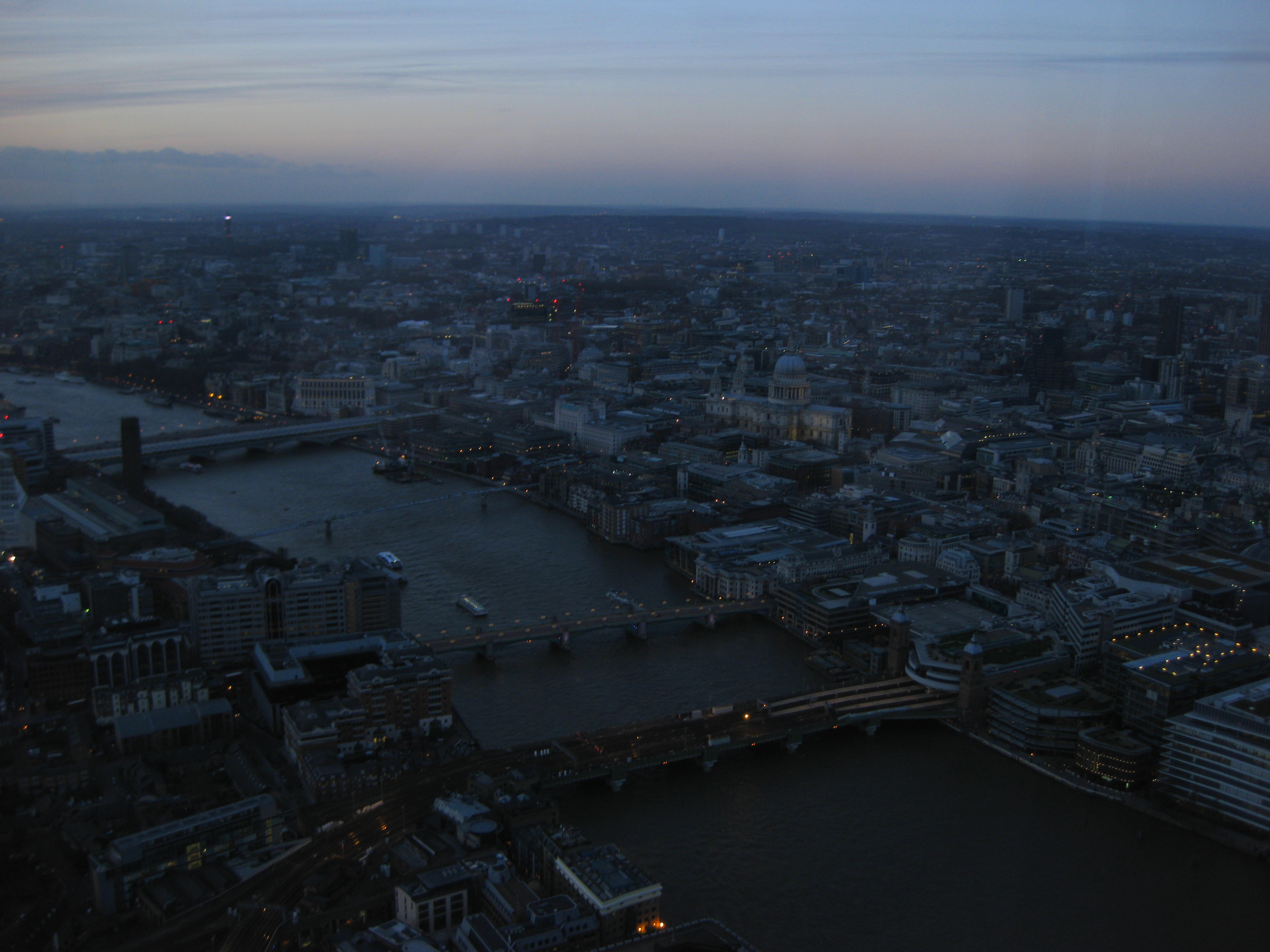 Central London at sunset