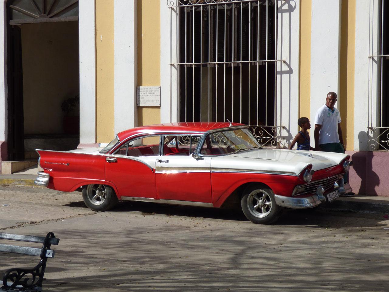 Classic American car in Trinidad, Cuba