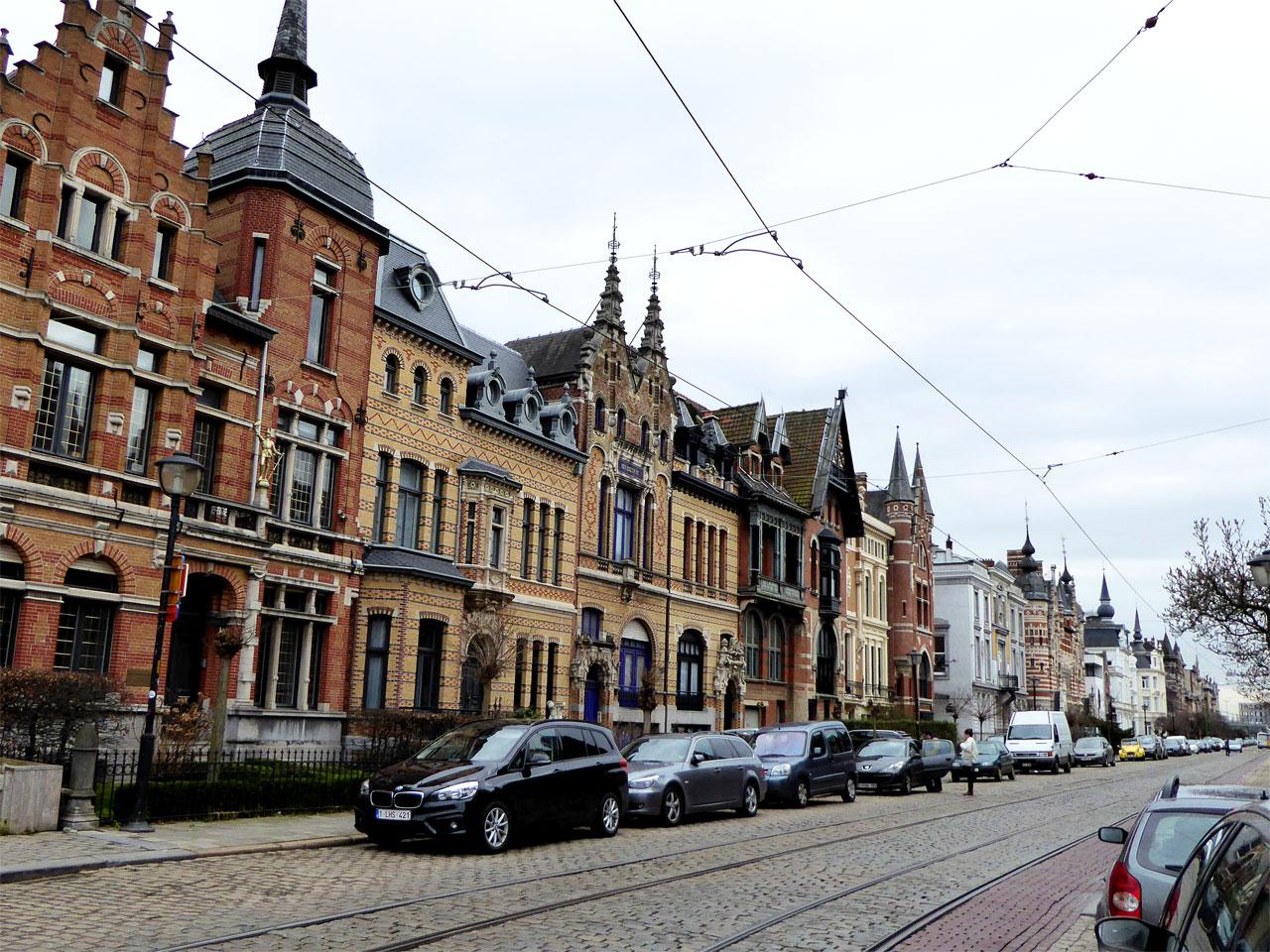 Houses on Cogels-Osylei, Zurenborg, Antwerp