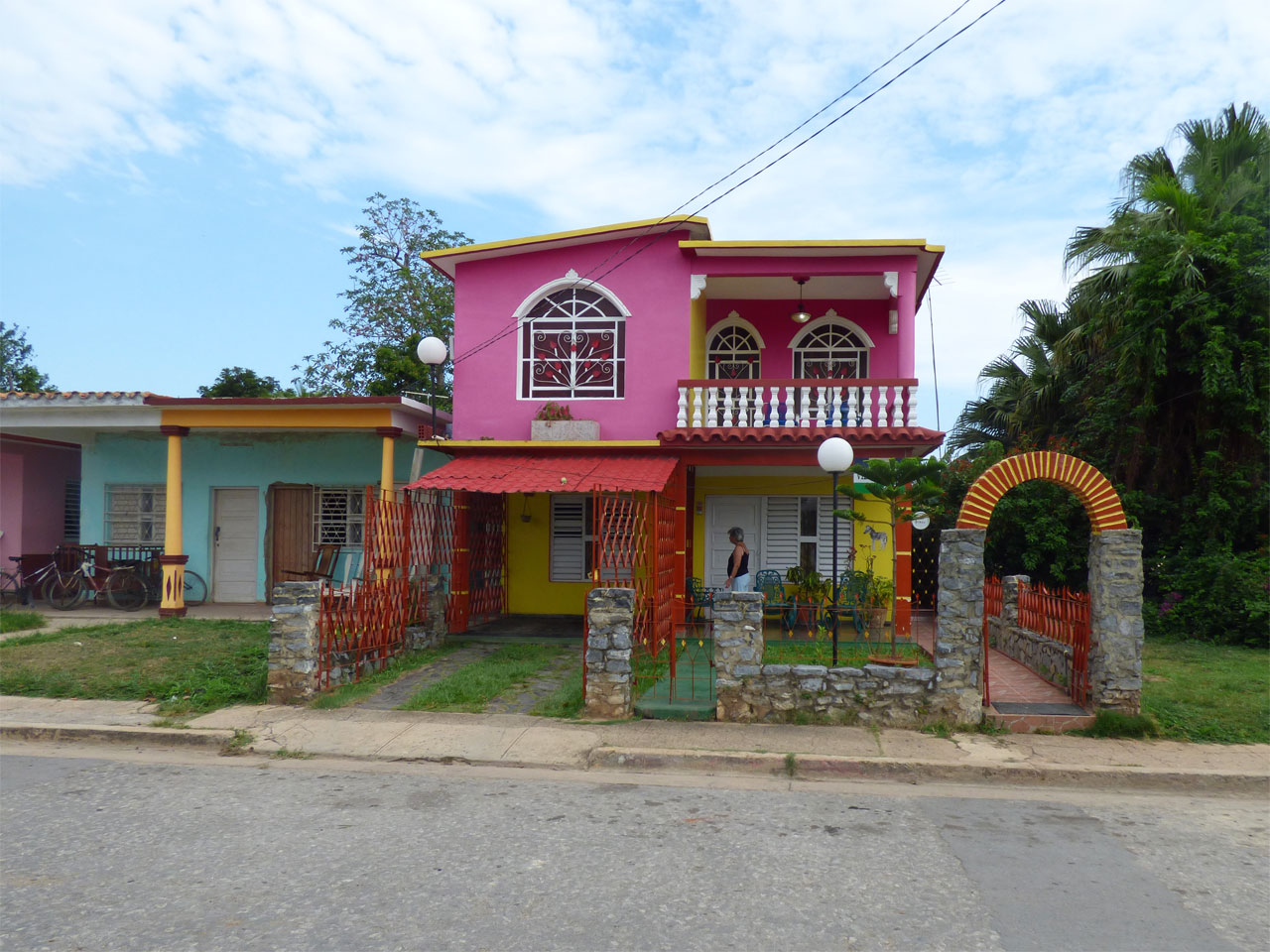 Colourful casas in Viñales, Cuba