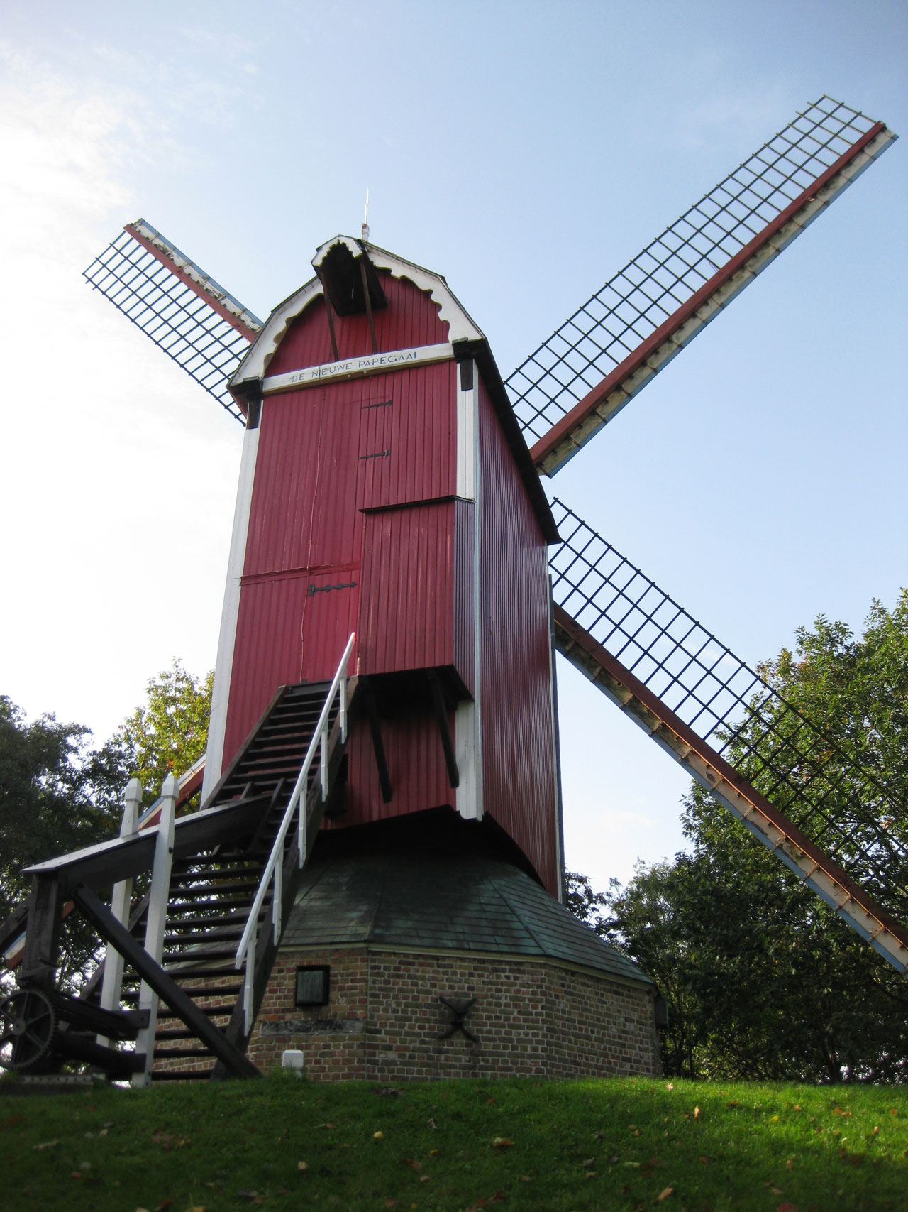 De Nieuwe Papegaai windmill, Bruges, Belgium