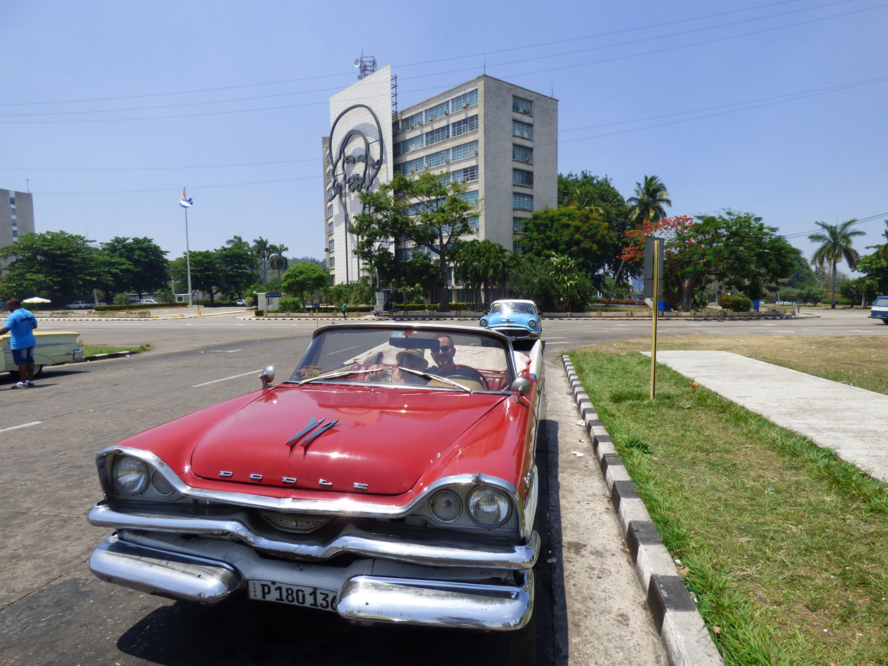 Dodge classic car in Revolution Square, Havana