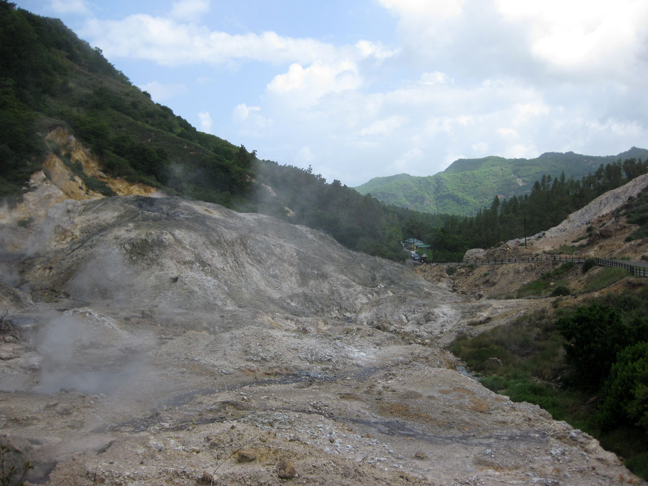 The drive-in volcano, Saint Lucia