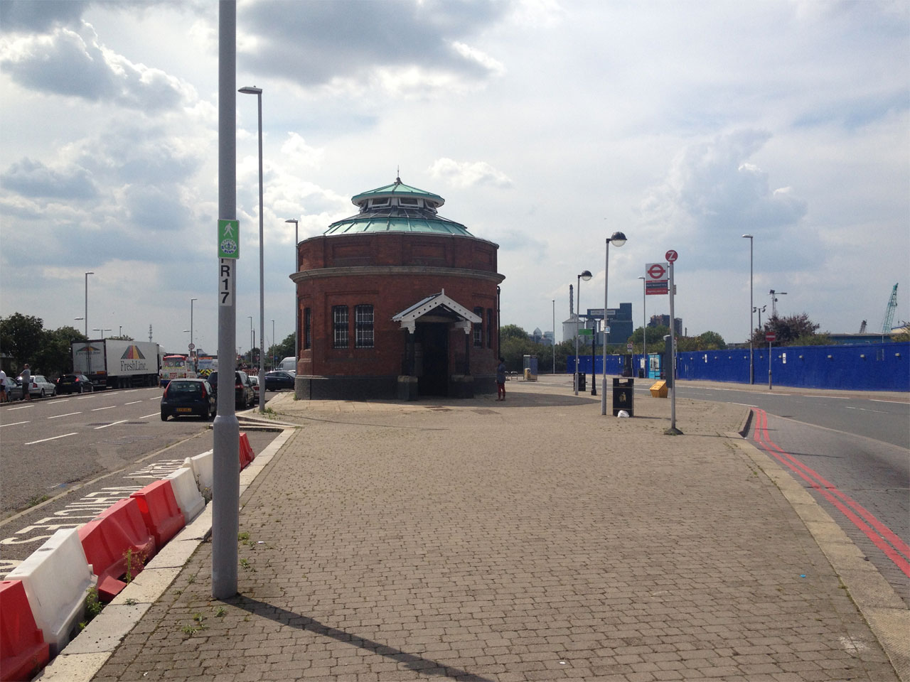 Entrance to the Woolwich foot tunnel, London