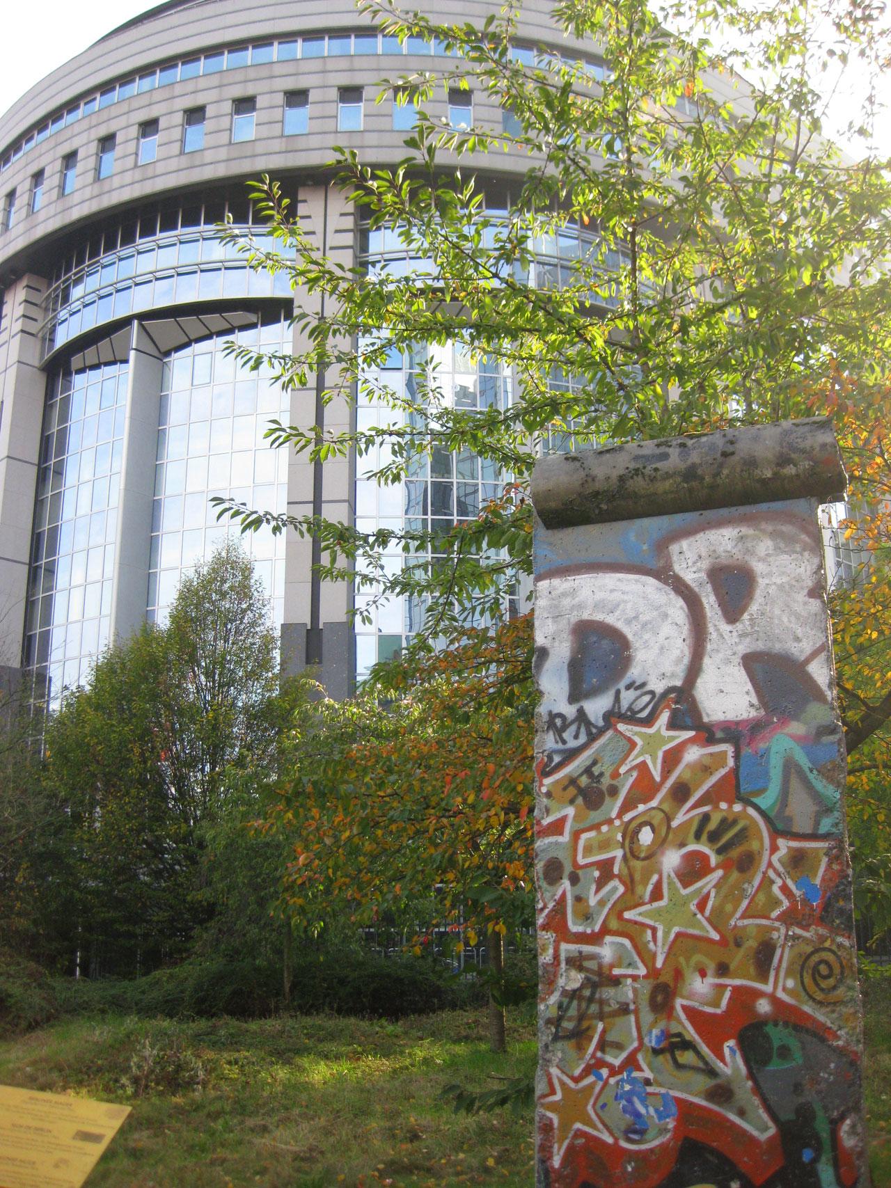 European Parliament and the Berlin Wall, Brussels, Belgium