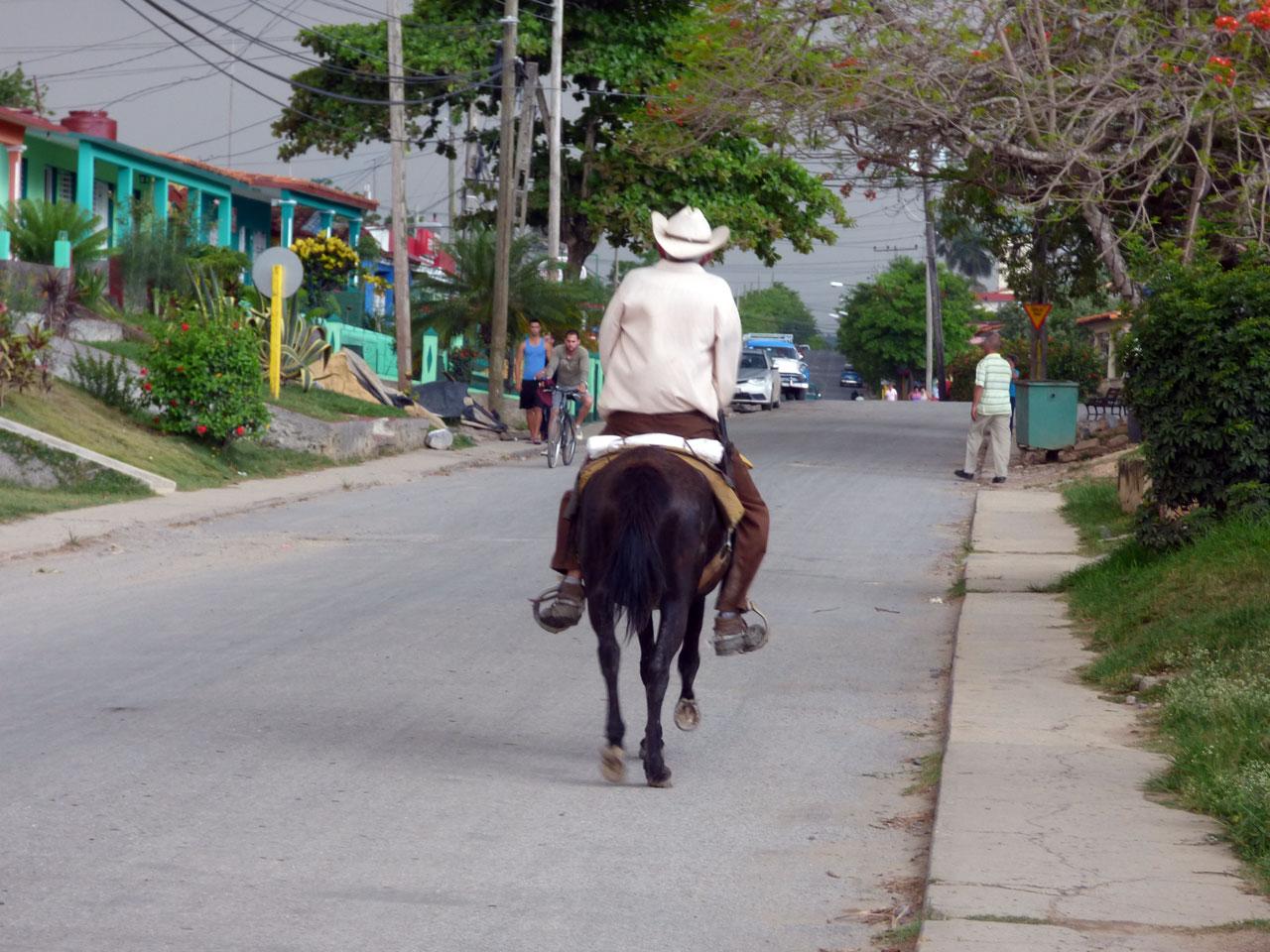 Farmer on horseback in Viñales, Cuba