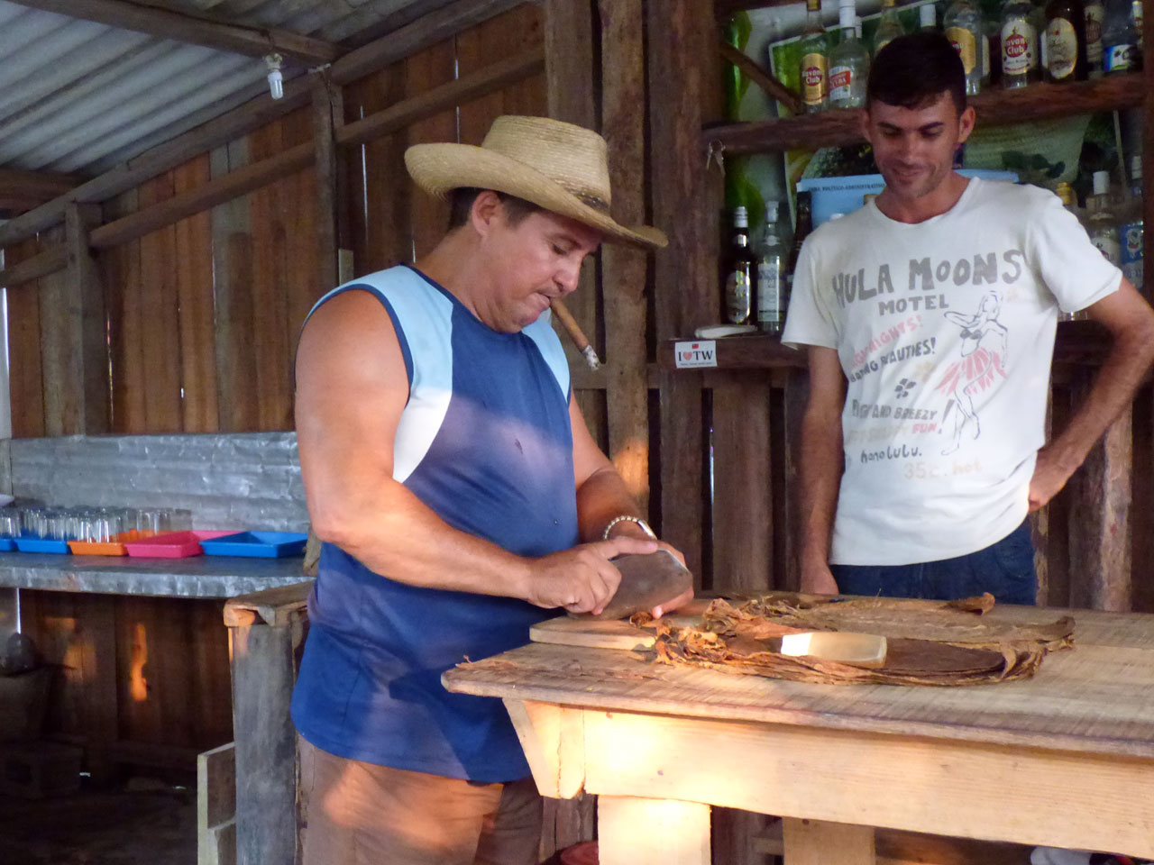 Cigar rolling demonstration in Viñales, Cuba