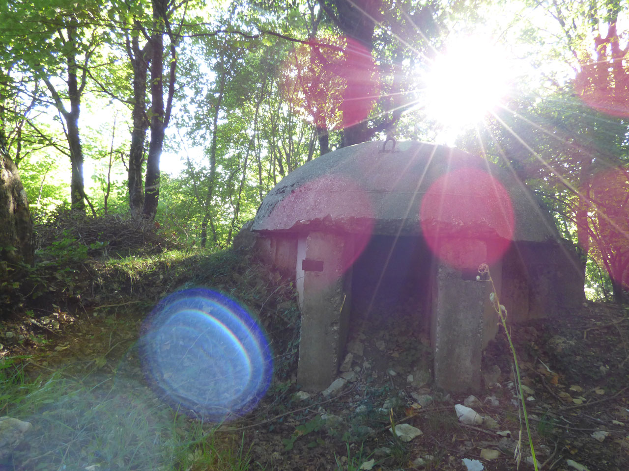 One of Hoxha's bunkers on Mount Dajti, Tirana, Albania