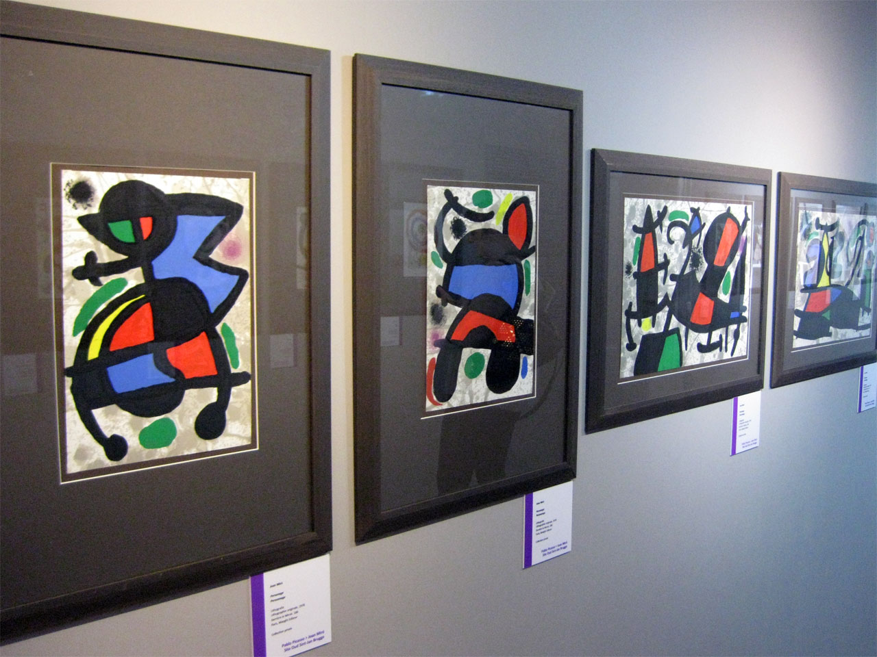 Joan Miró paintings, Bruges, Belgium