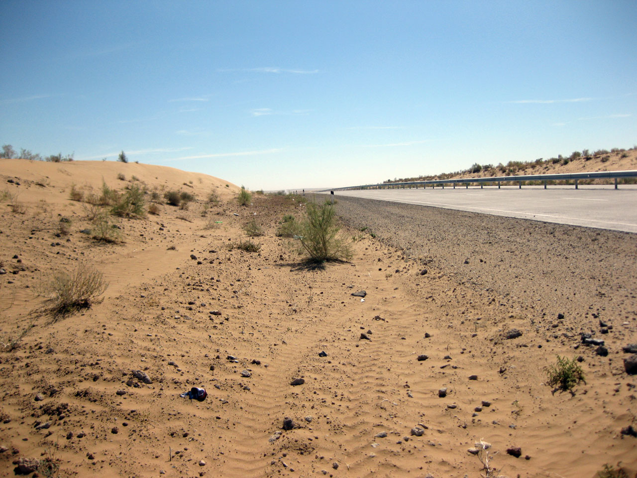 The Kyzylkum Desert, a couple of hours from Khiva