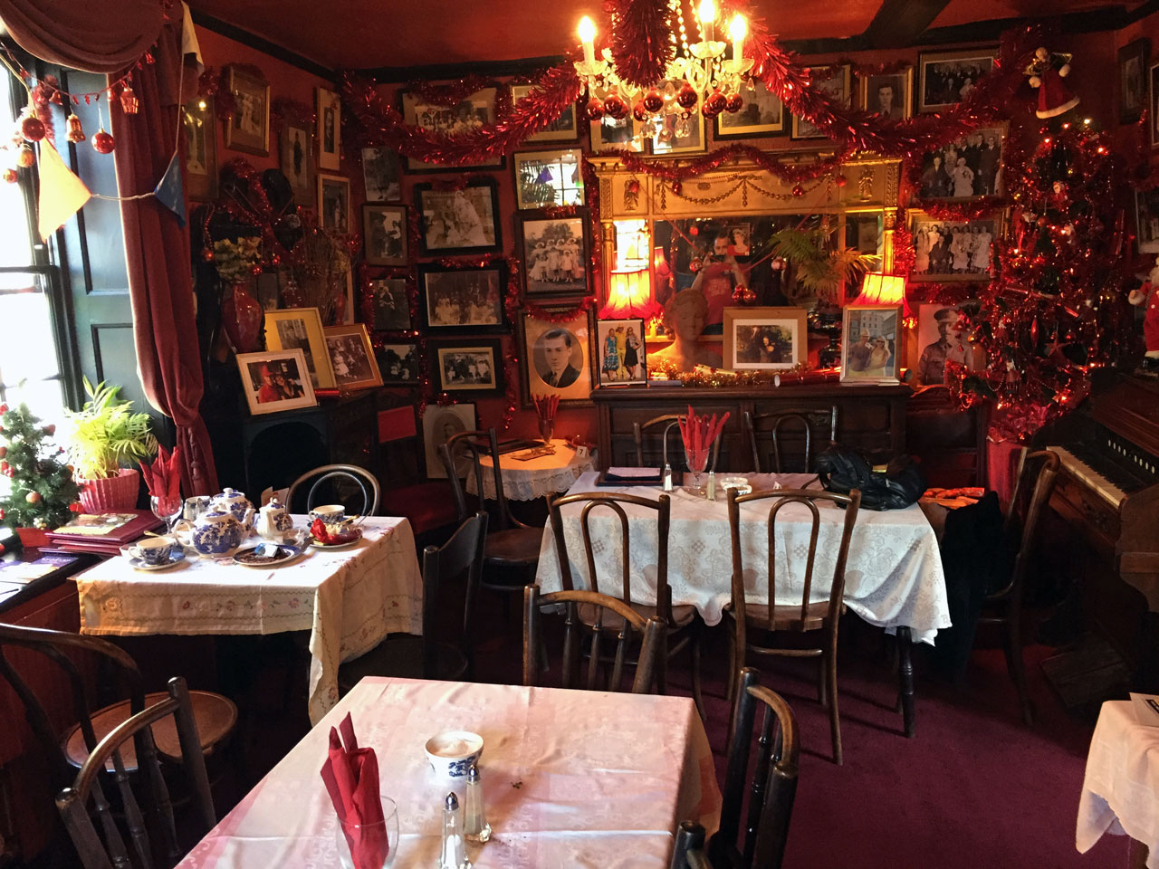 Upstairs at the Mad Hatter tea rooms, Margate, Kent