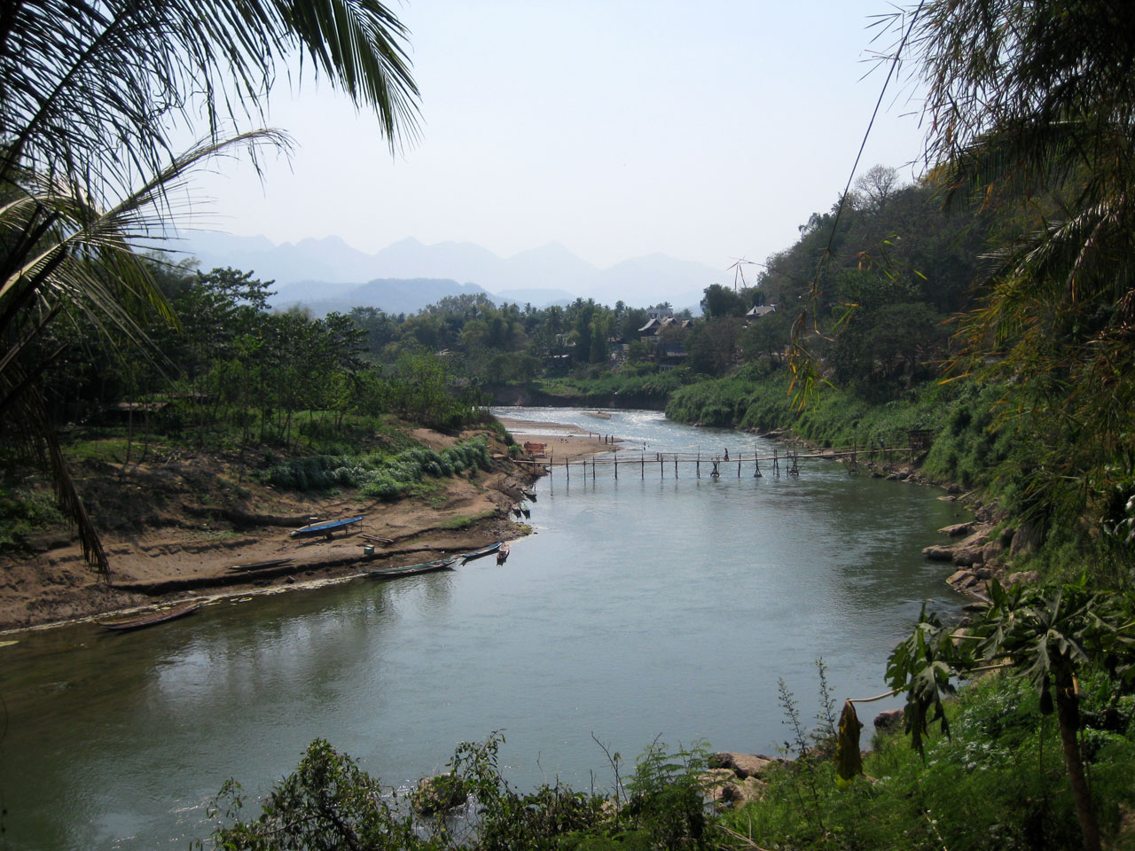 The Nam Khan river, Luang Prabang, Laos