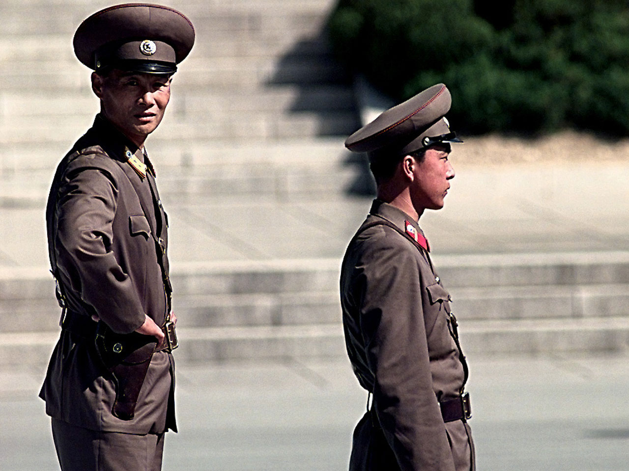 North Korean border guards - photo by Jeffrey Allen)