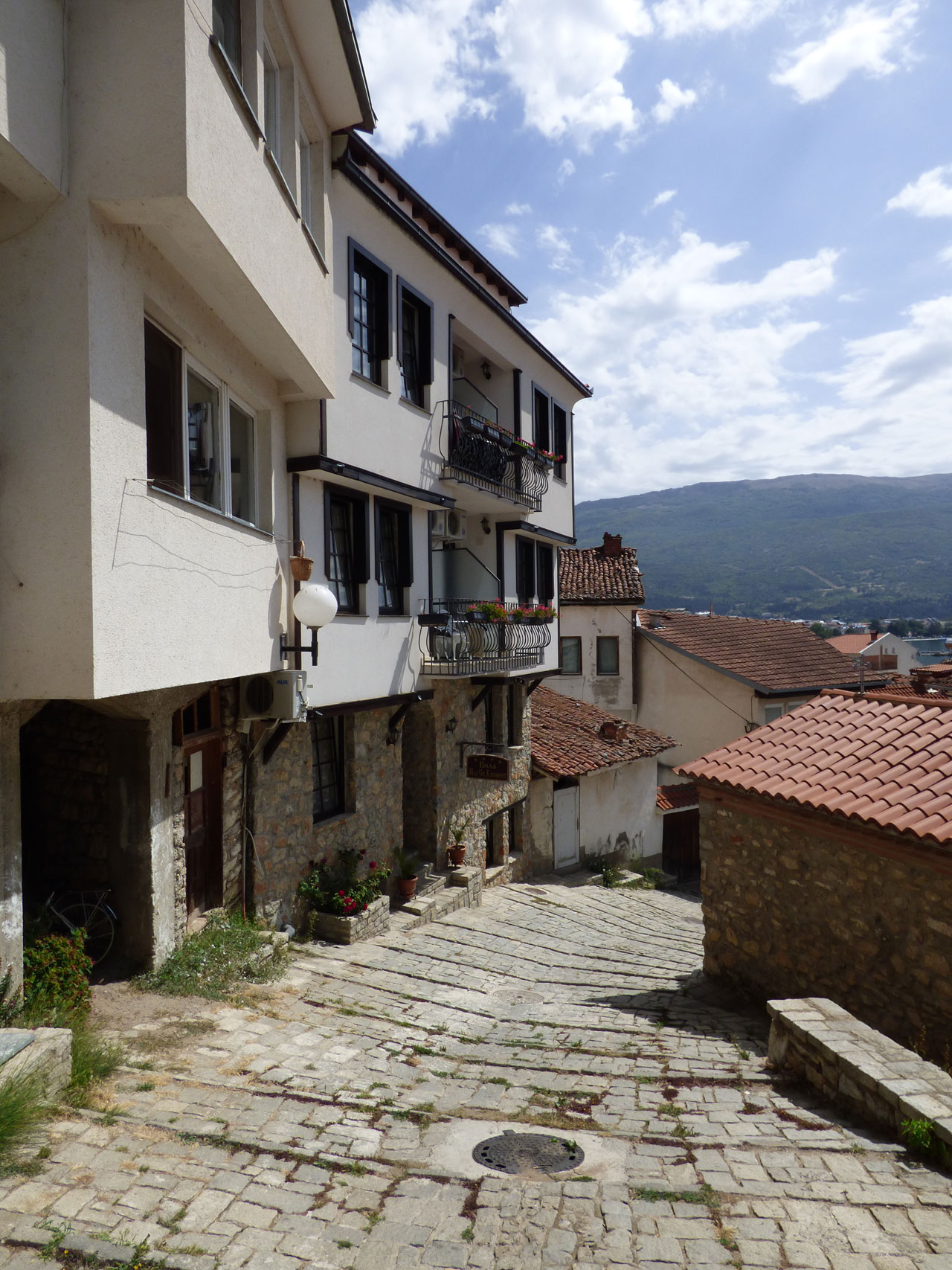 Street in Ohrid old town, Macedonia