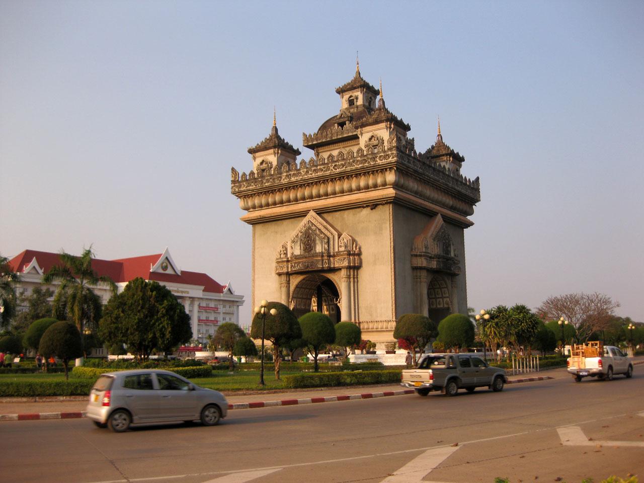 Patuxai victory monument, Vientiane, Laos