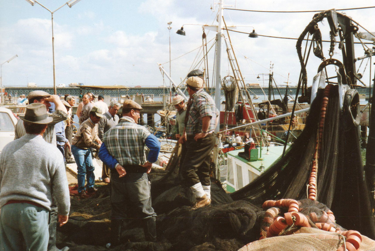 Portuguese fishermen, the Algarve, 1989