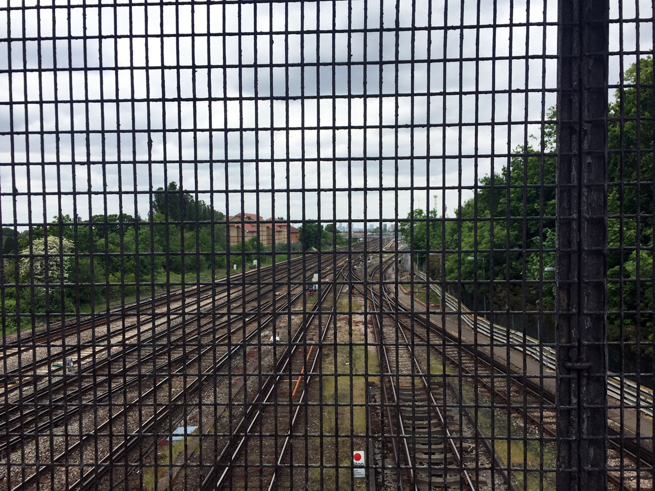 View from the railway footbridge at Grove Park, London