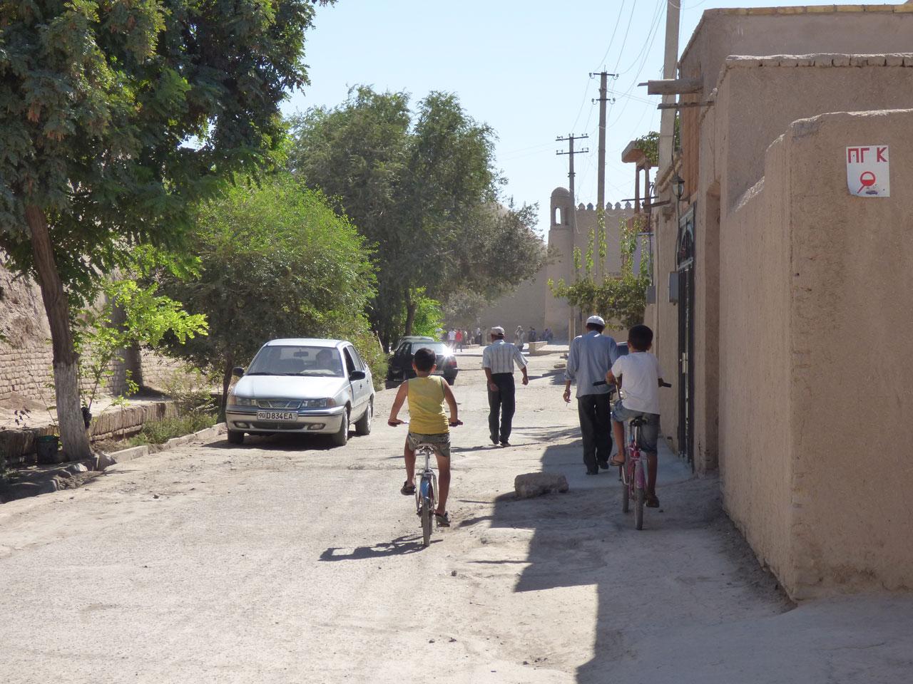 Residential street in Khiva