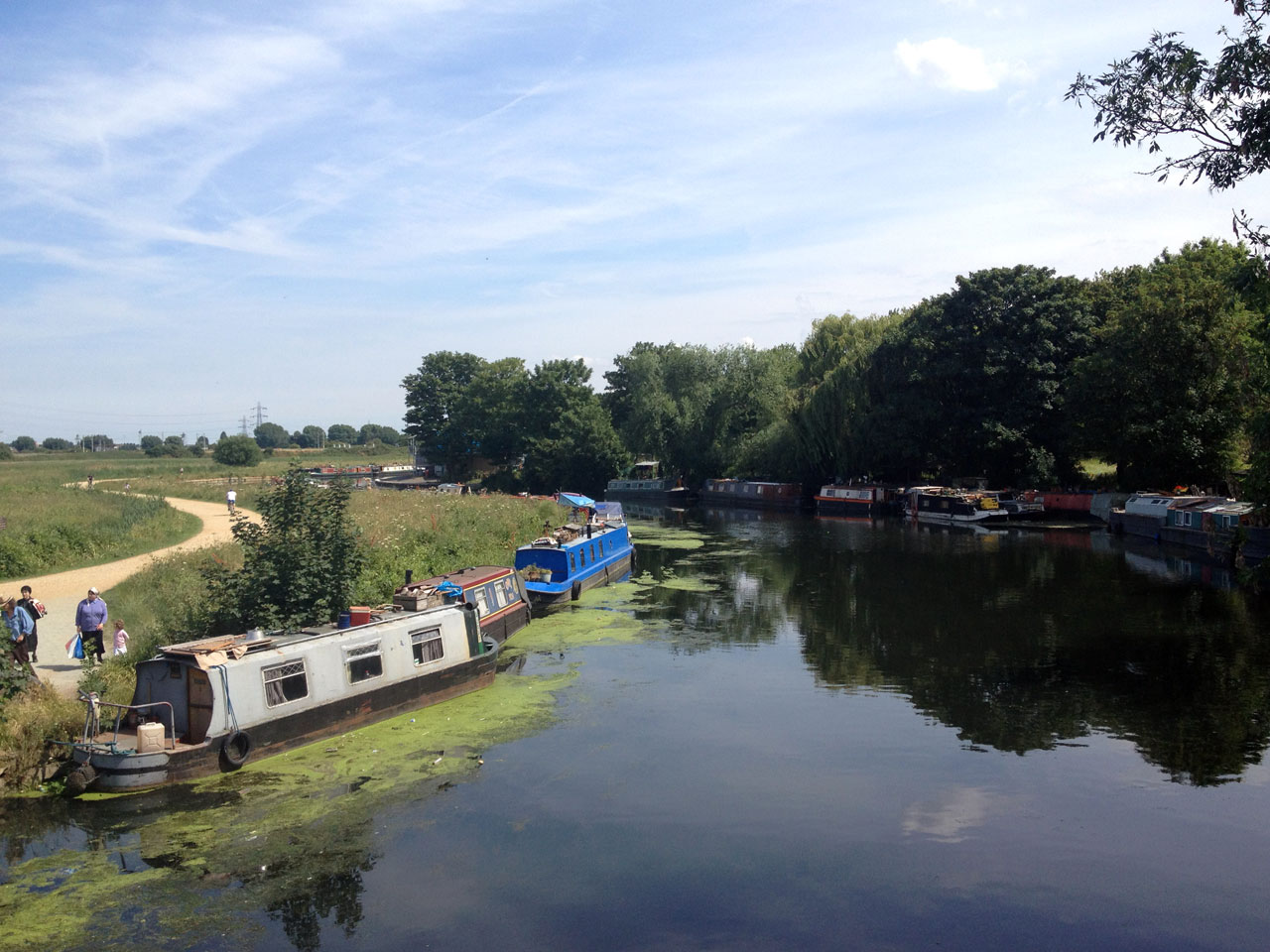 The river Lea, Capital Ring Walk, London