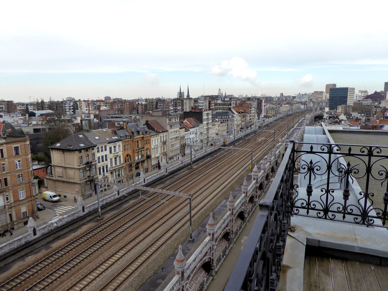 Looking out towards Antwerp's Jewish Quarter