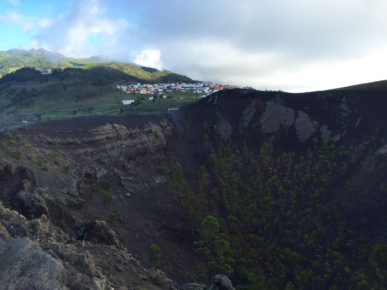 Crater of San Antonio volcano, La Palma