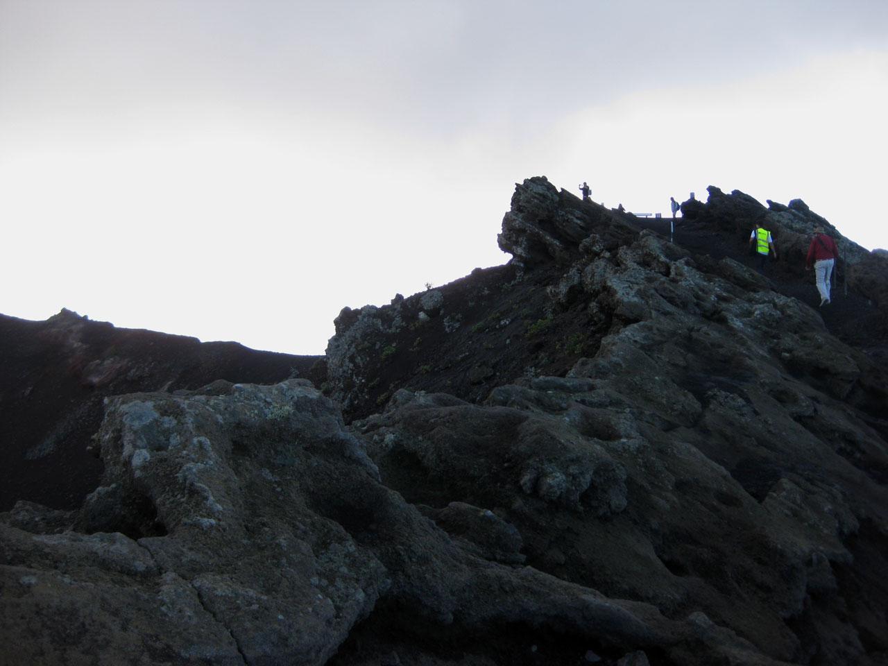 Climbing San Antonio volcano, La Palma