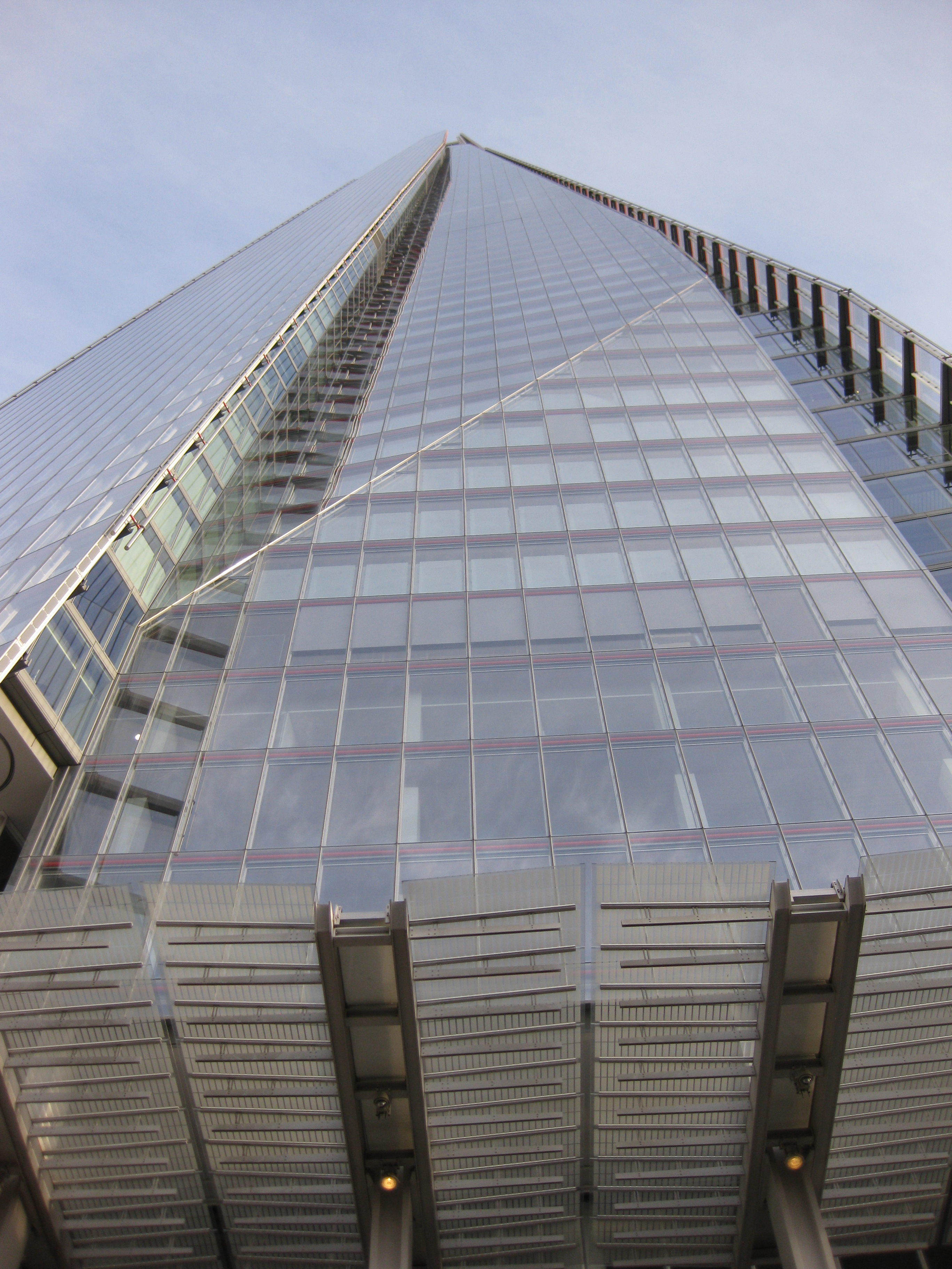 At the foot of The Shard, London