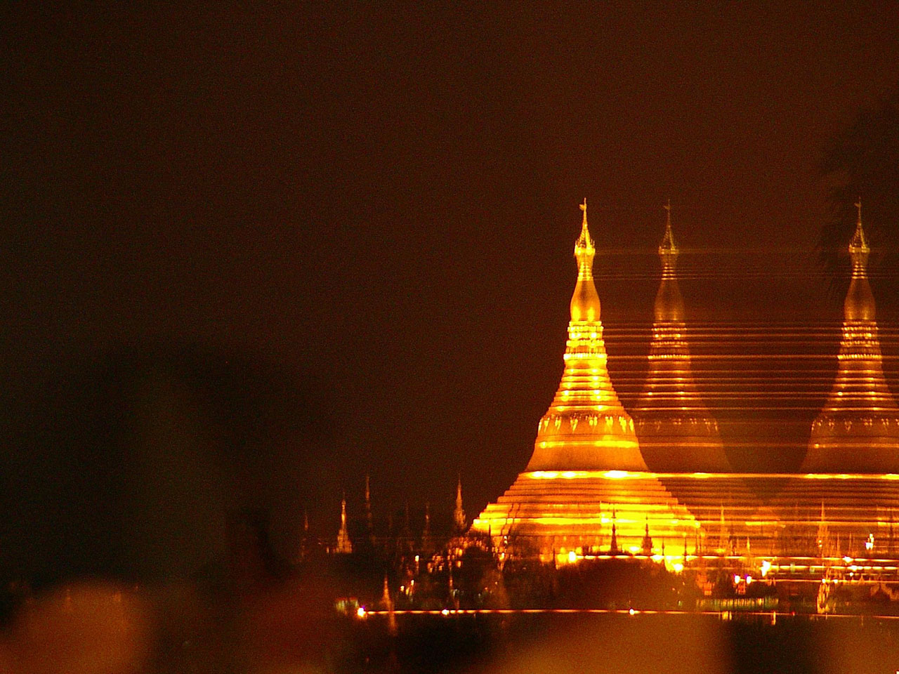 The Shwedagon Paya in Yangon, Burma