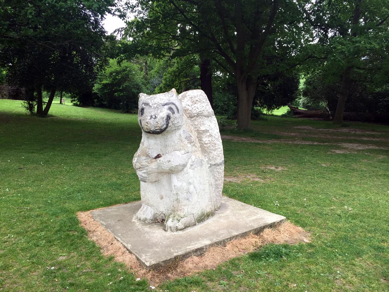 Squirrel sculpture, Beckenham Place Park