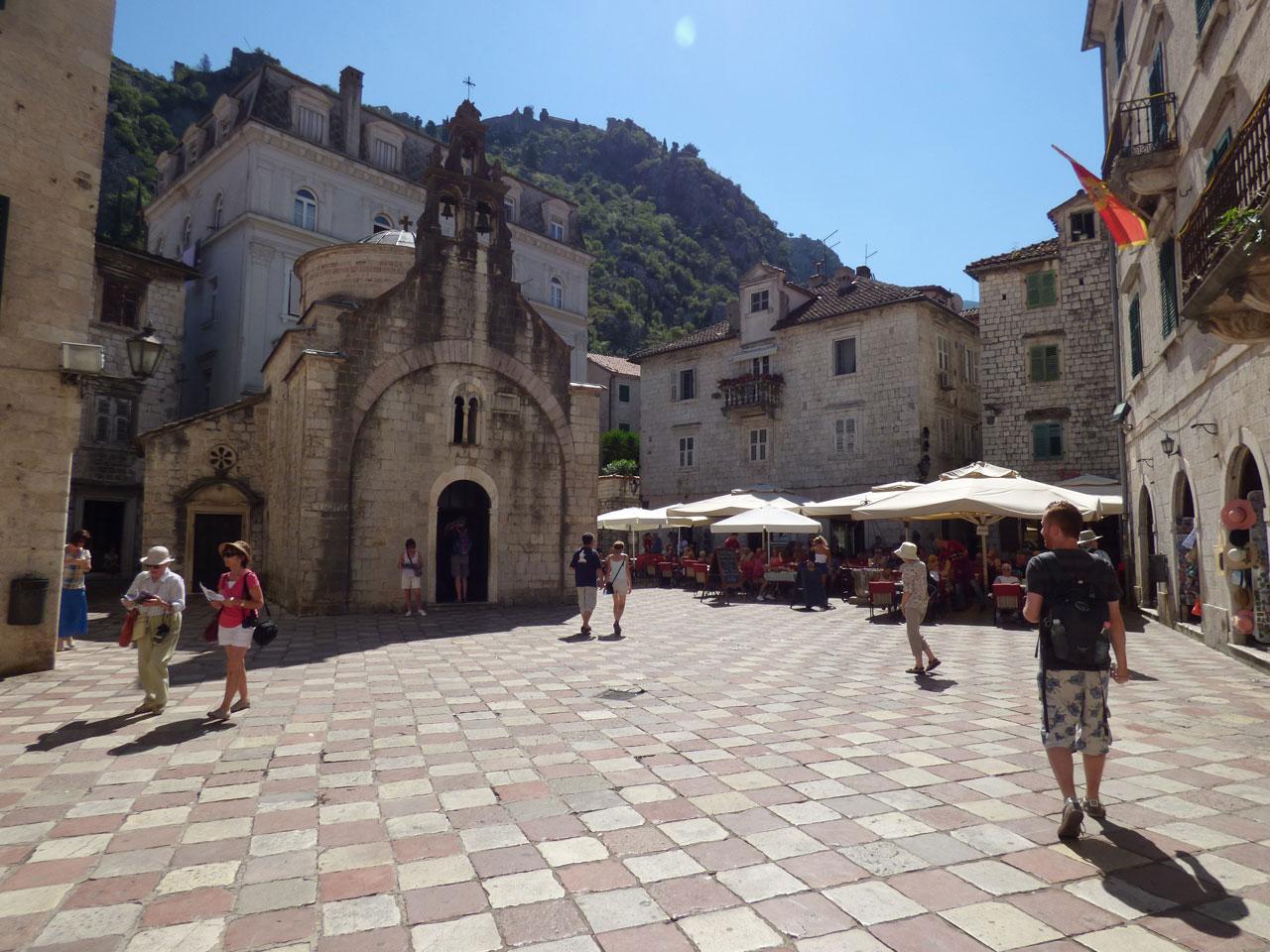 St Luke's Square, Kotor, Montenegro