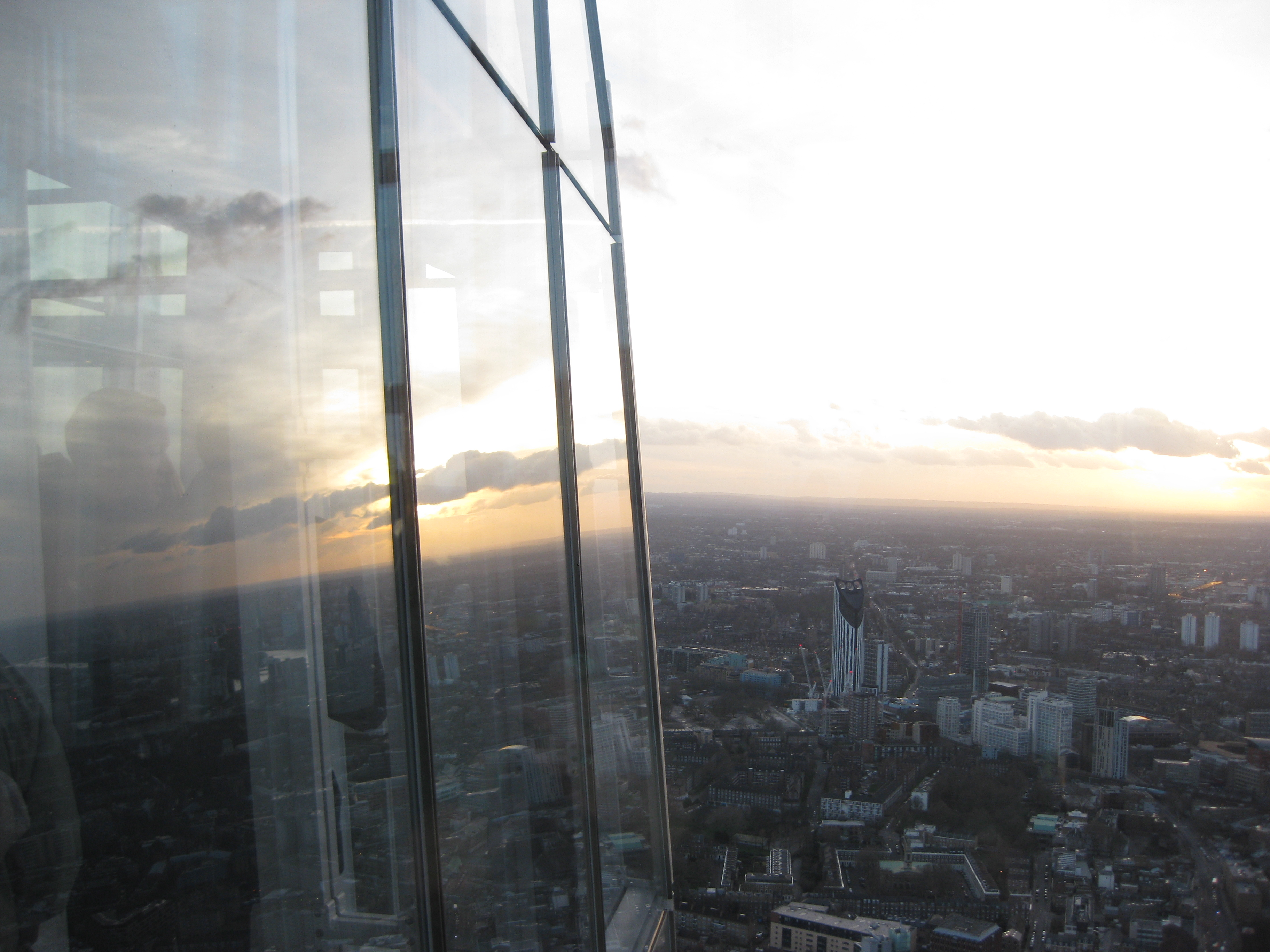 View of the Strata SE1 from The Shard, London
