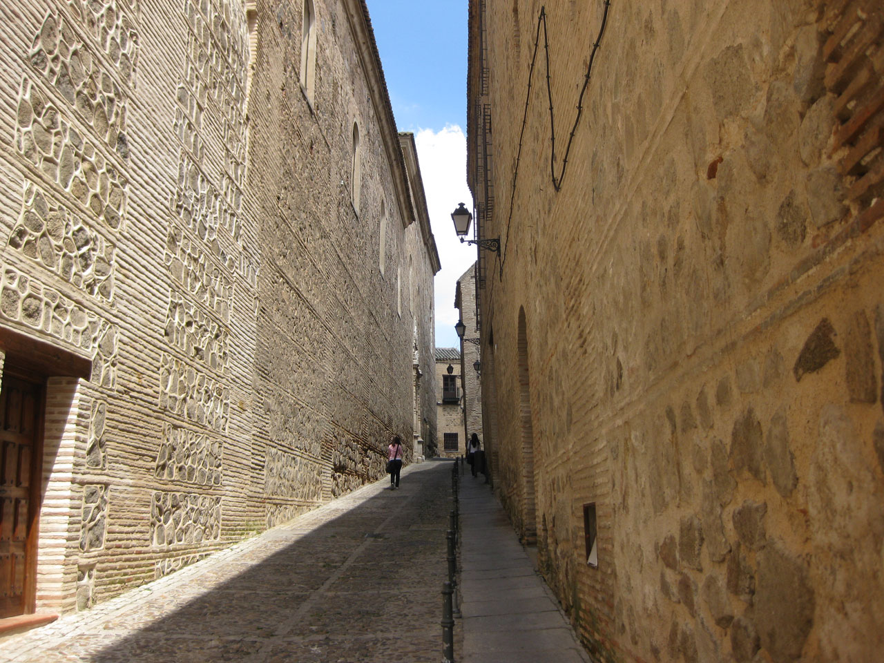 Narrow streets in Toledo, Spain