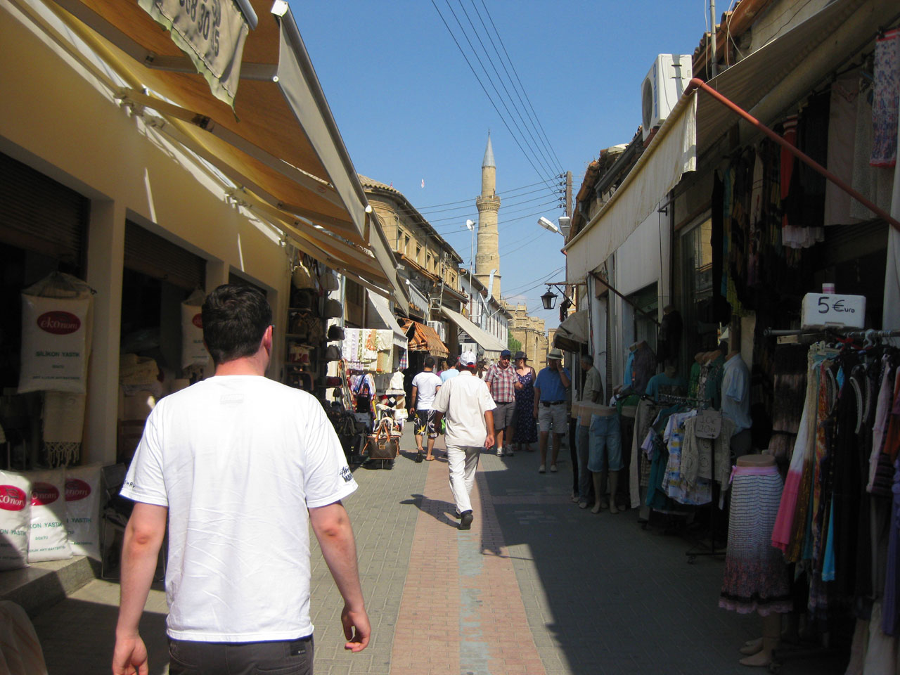 Street in north Nicosia, Cyprus