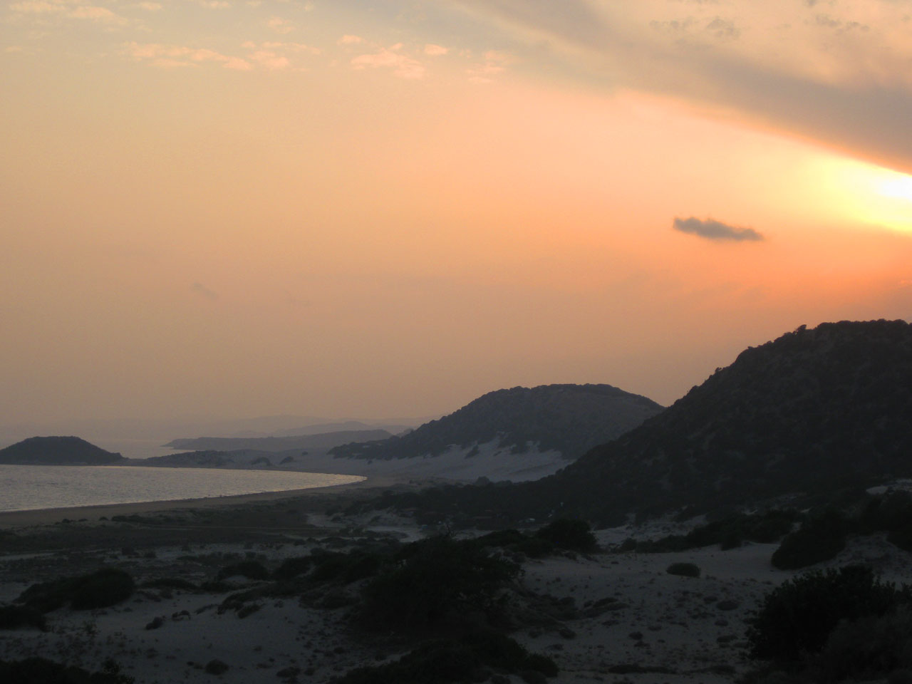 Sunset at Golden Beach, Karpaz Peninsula, Cyprus