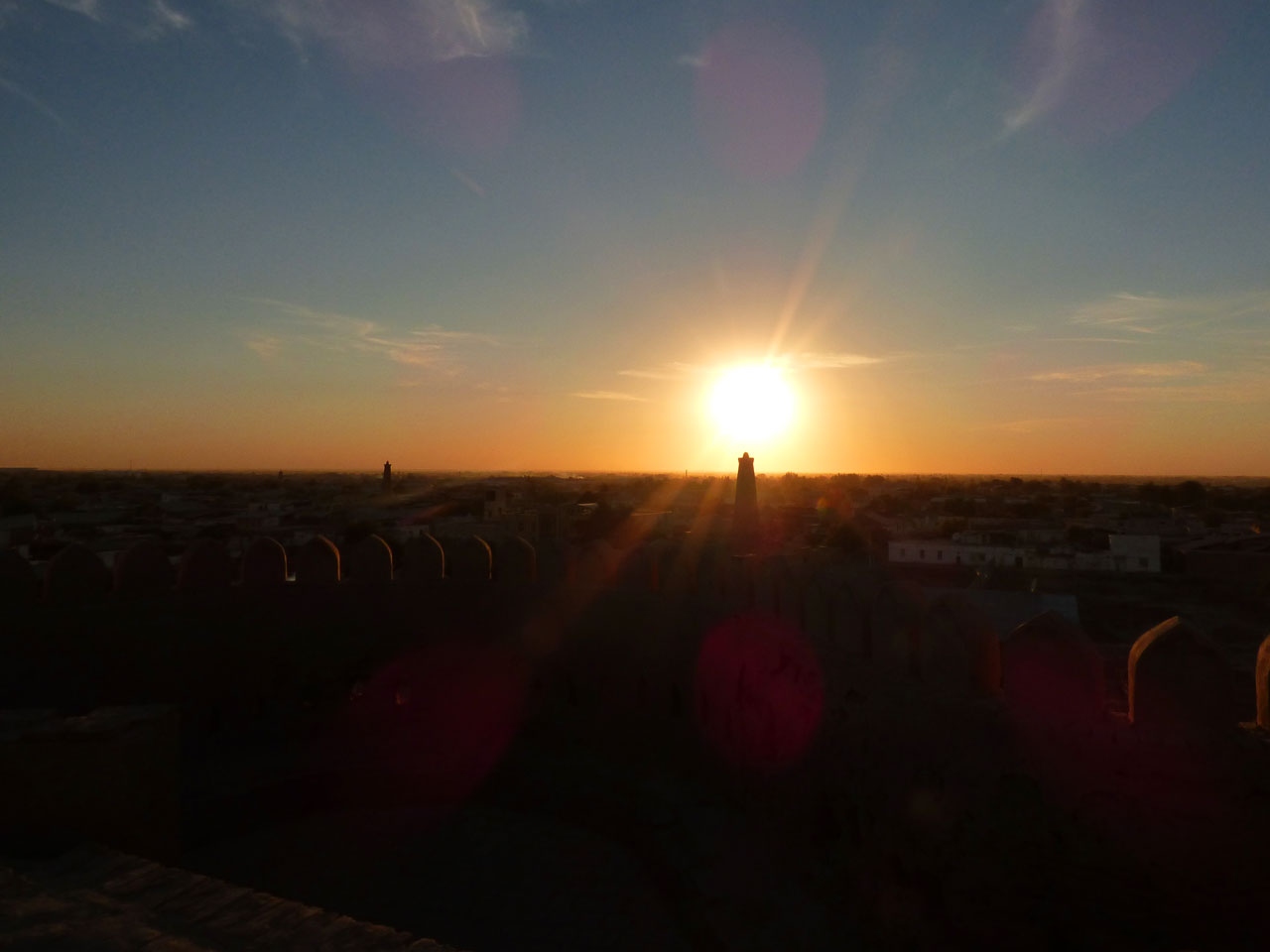 Sunset over the Ichon Qala, Khiva