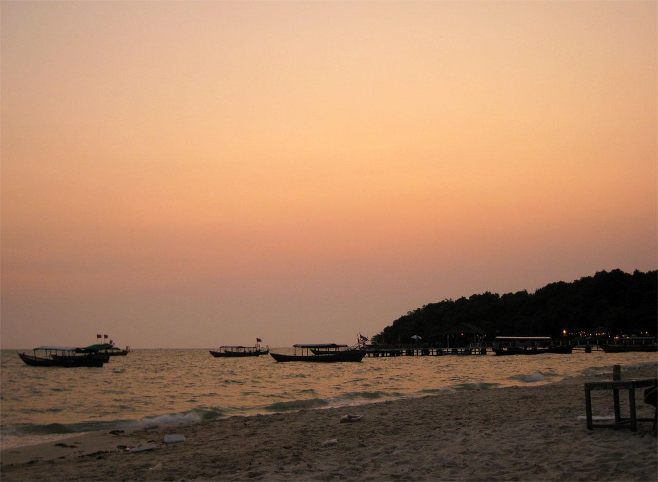 Sunset on Serendipity Beach, Sihanoukville, Cambodia