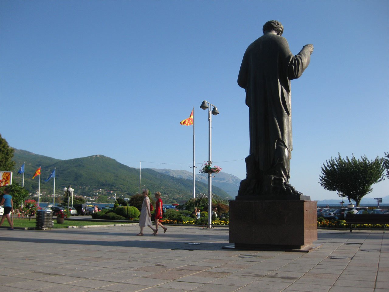 Sveti Kliment square, Ohrid, Macedonia