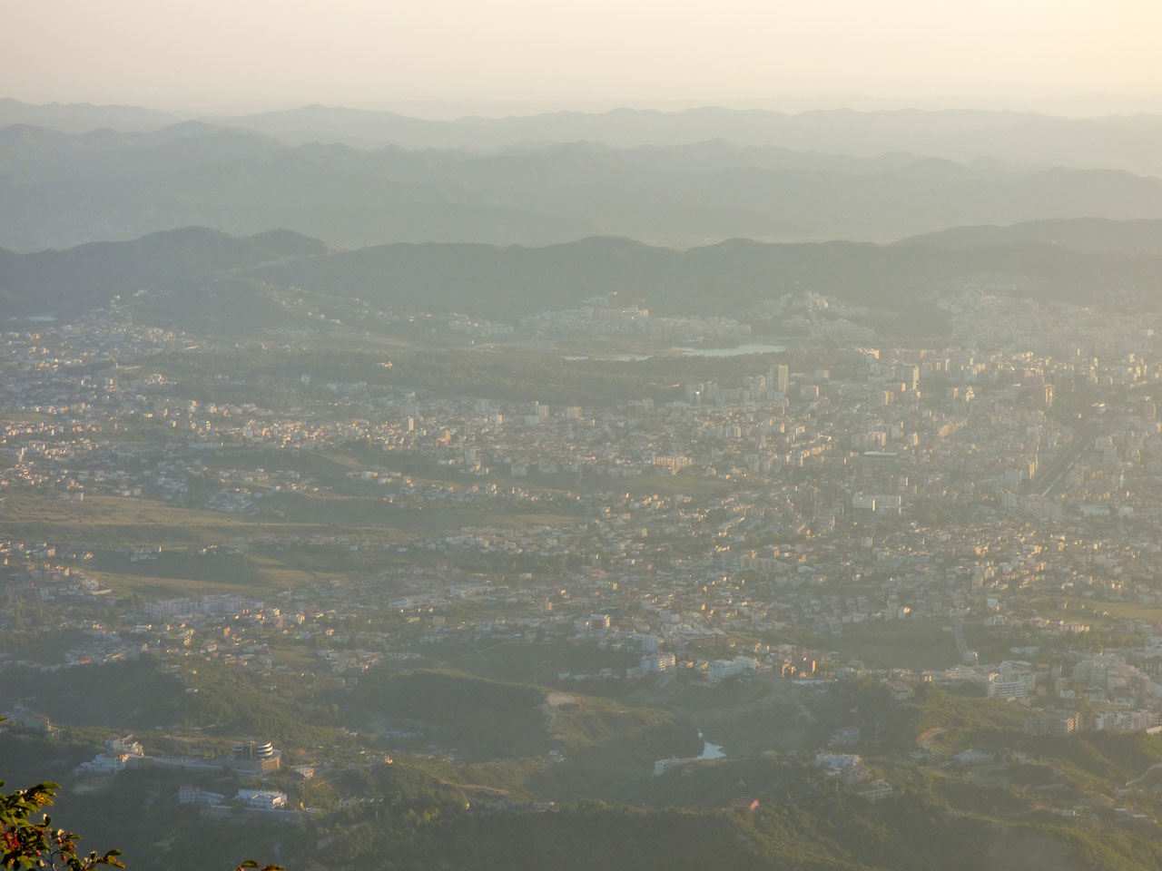 View of Tirana from Mount Dajti, Albania