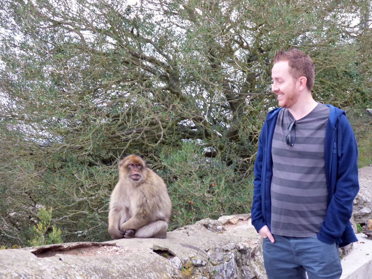 Me and a Barbary macaque, Gibraltar