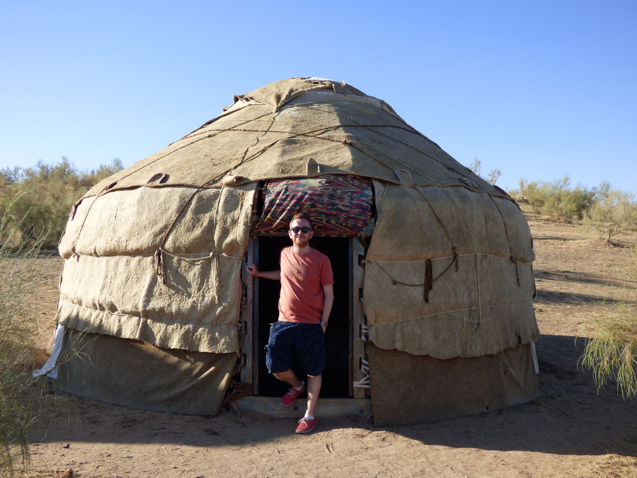Our yurt at the Yangikazgan Desert Camp, Uzbekistan
