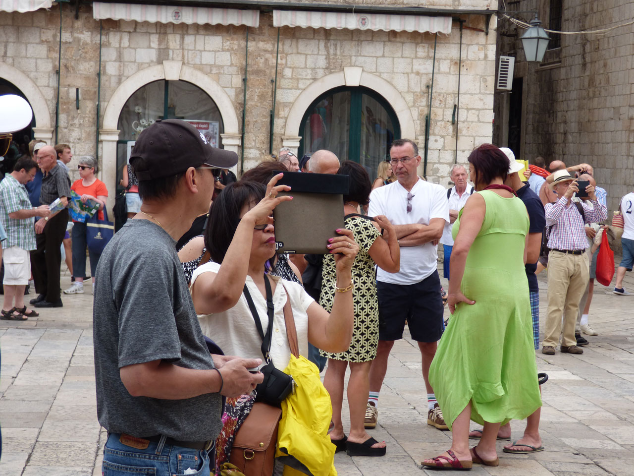 Tourists in Dubrovnik, Croatia
