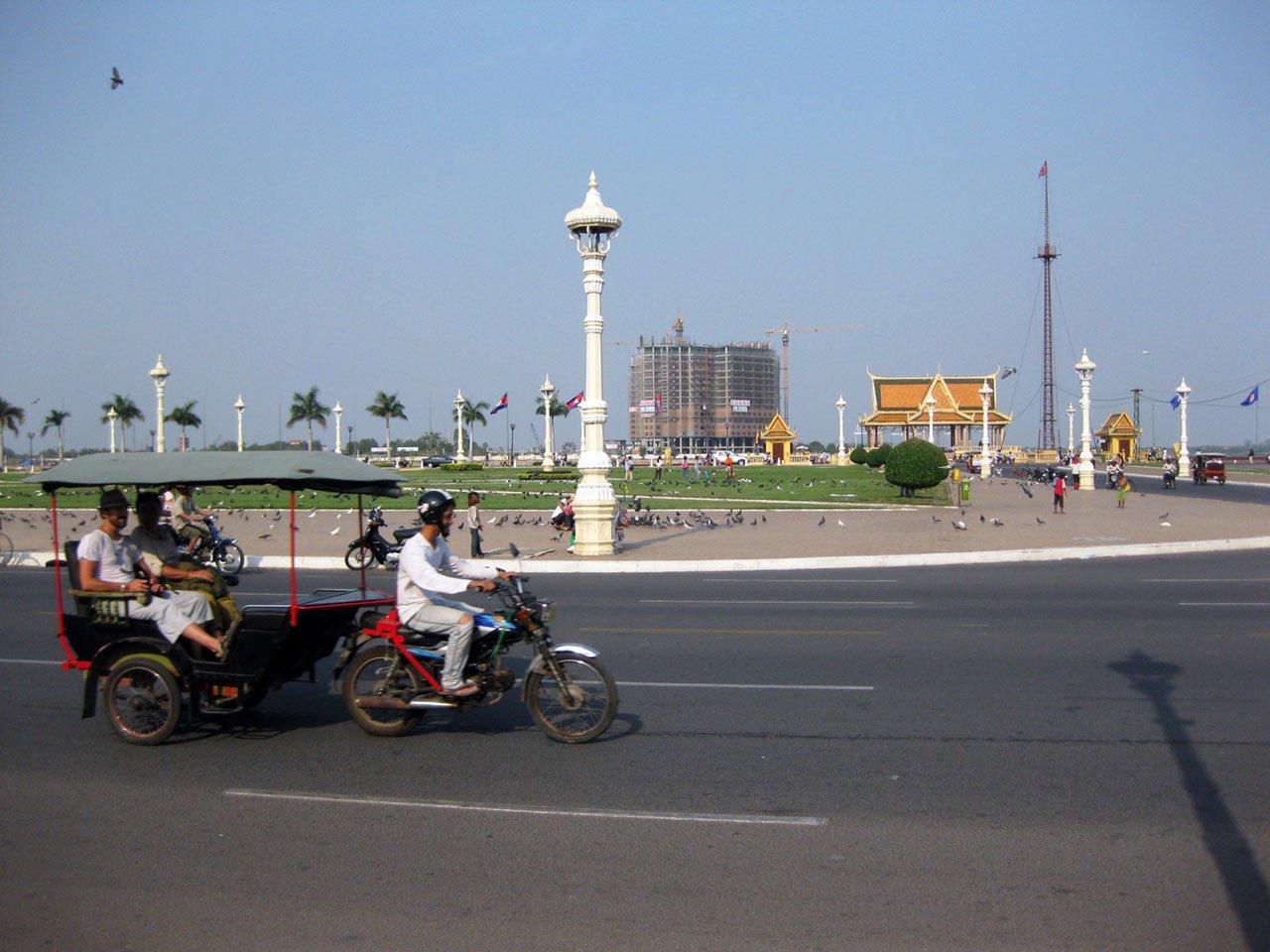 Tuk tuk in Phnom Penh, Cambodia