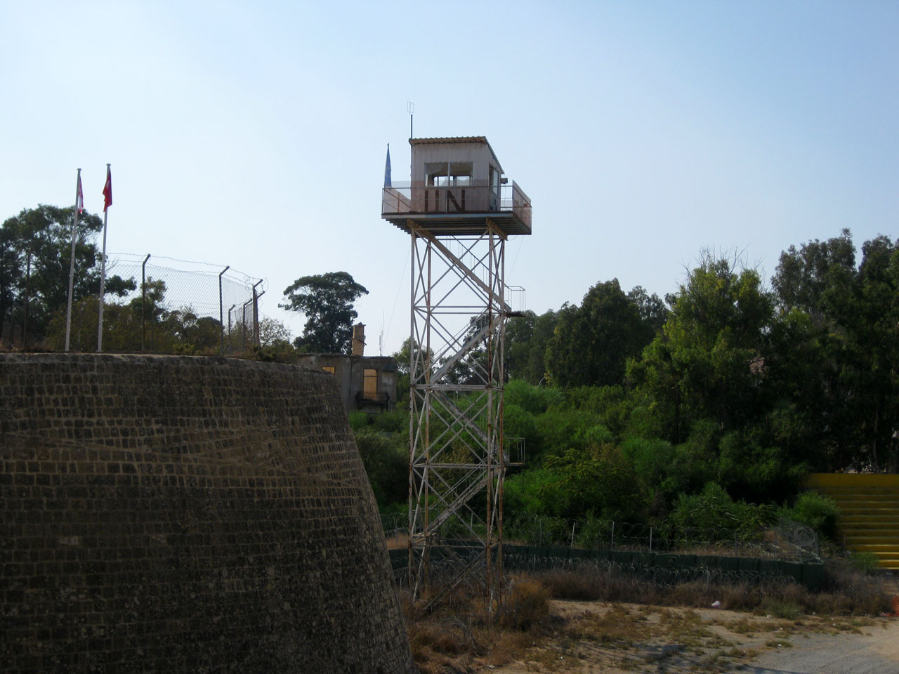UN watchtower in Nicosia, Cyprus
