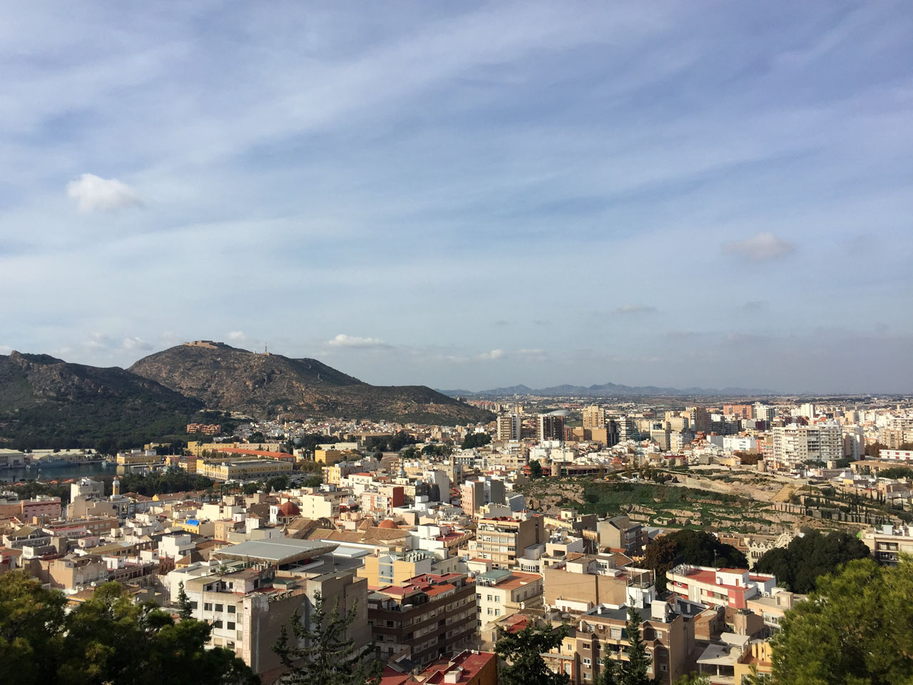 View of Cartagena, Spain from the Castillo de la Concepción