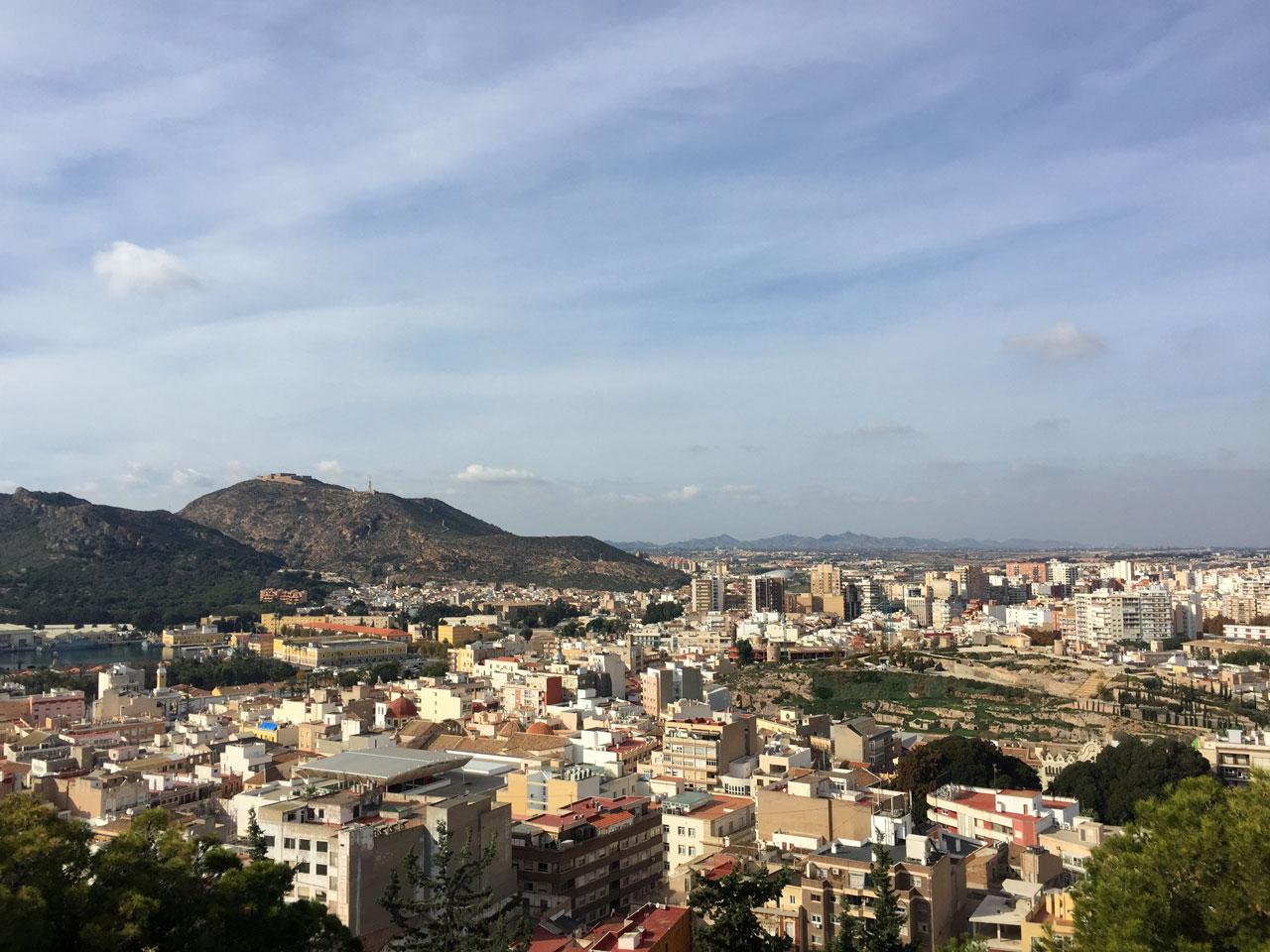 View of Cartagena, Spain from the Castillo de la Concepción