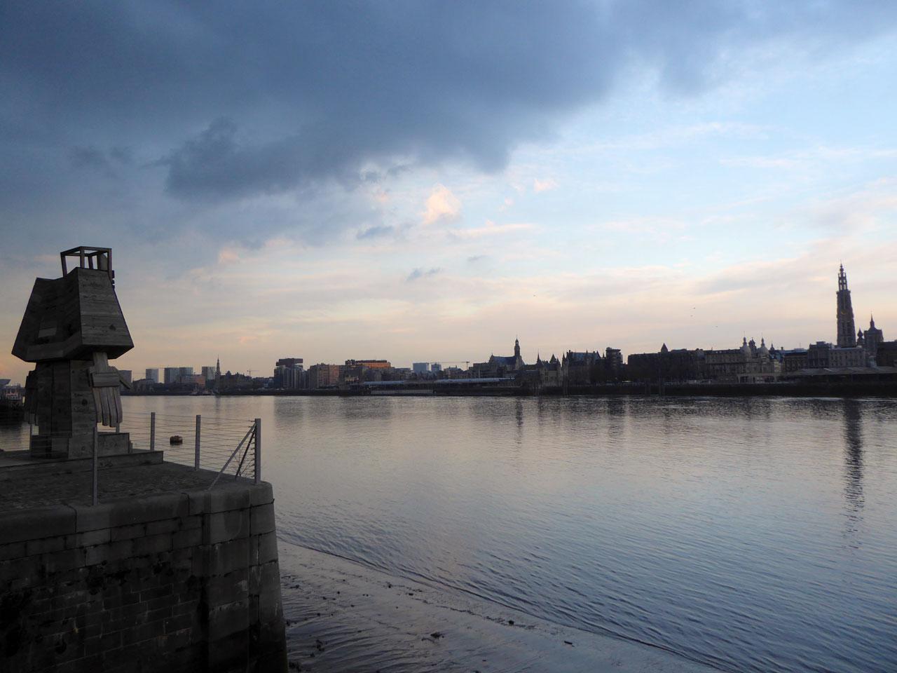 View from the Linkeroever, Antwerp